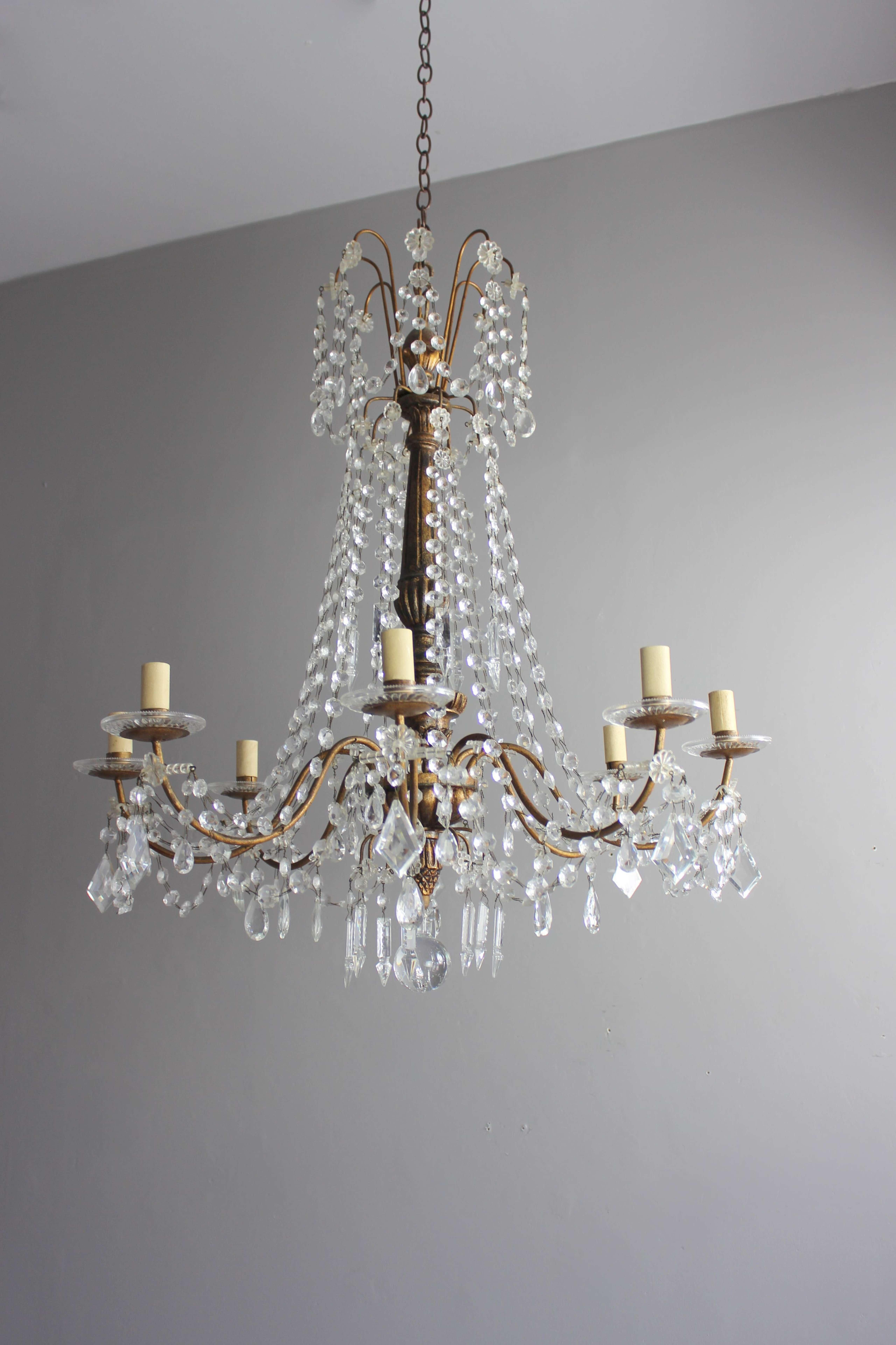 Italian antique chandelier in the Genoese style