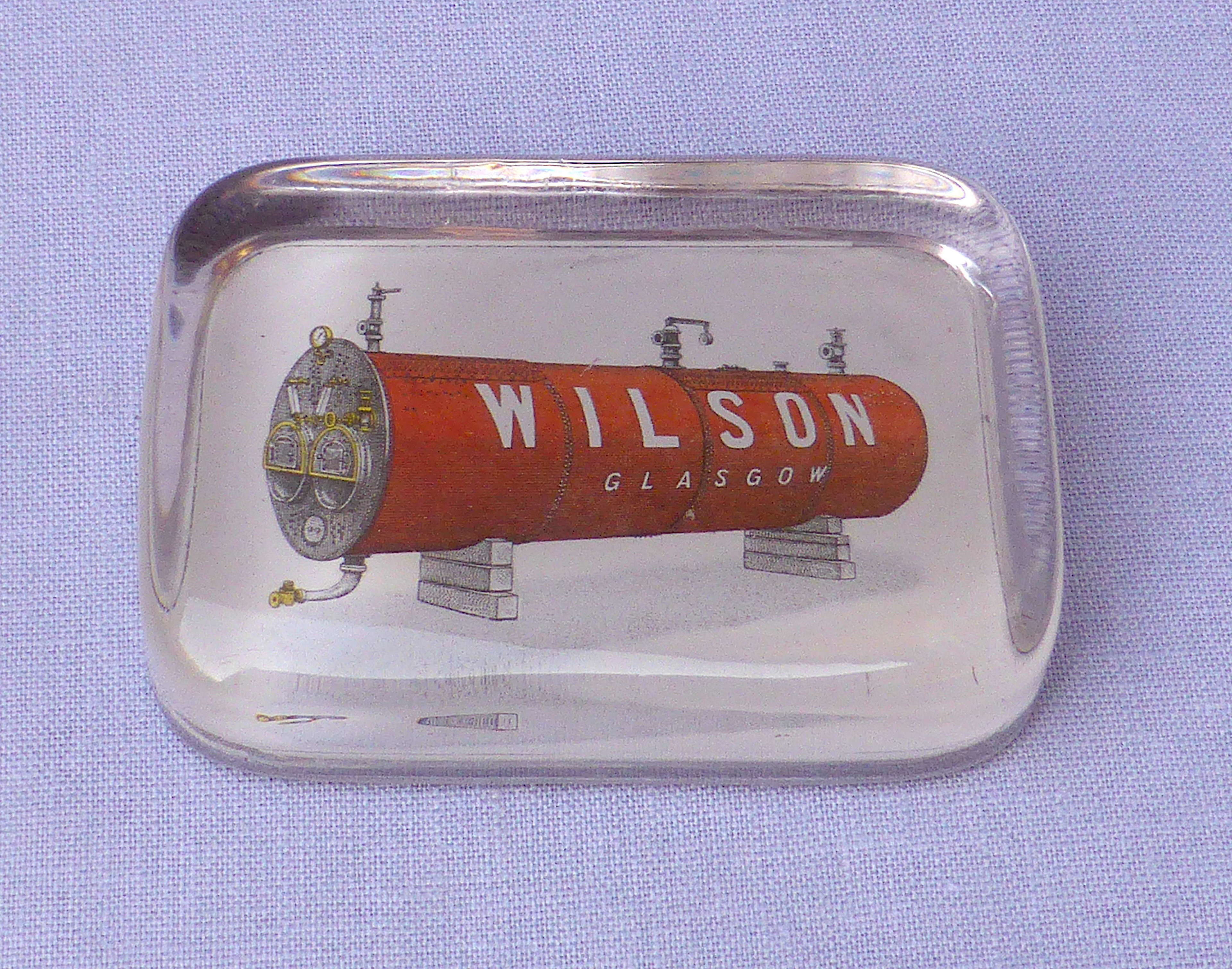 Interesting Wilson Boilermakers Paperweight 1920s