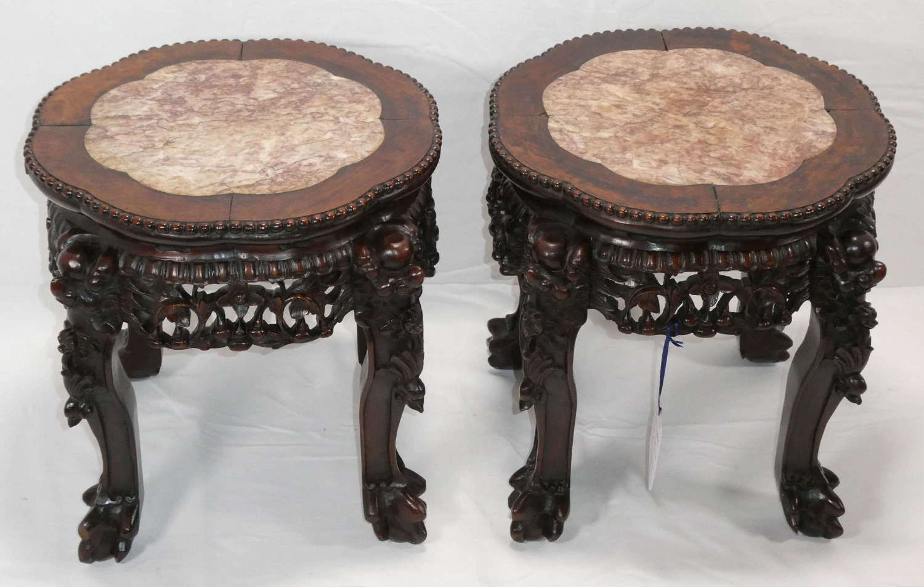 Pair of Chinese Low Stands