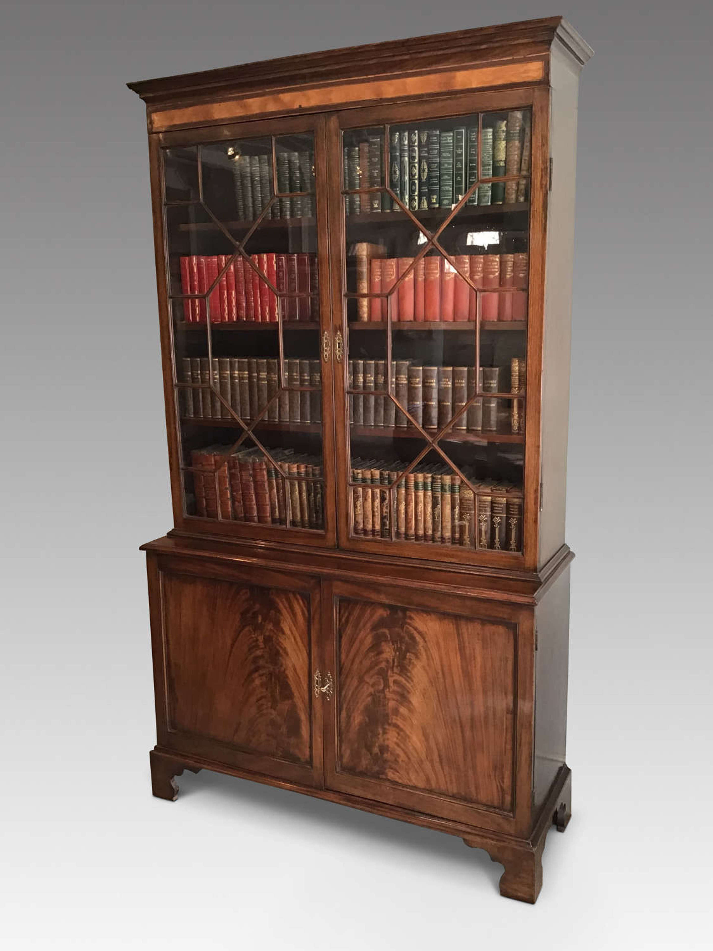 Antique Mahogany Bookcase In Antique Bookcases Shelves
