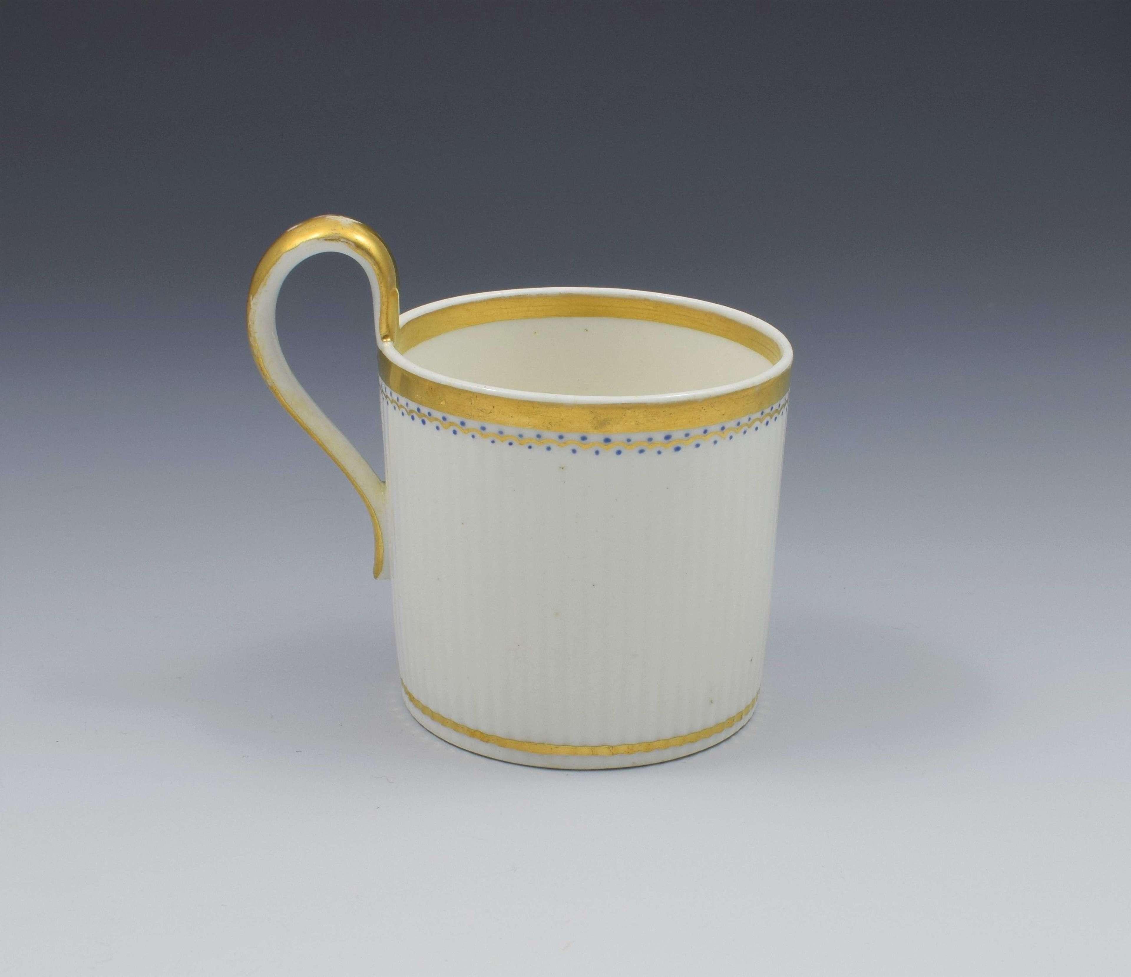 Derby Porcelain Paris Flute Coffee Can High Loop Handle c.1820