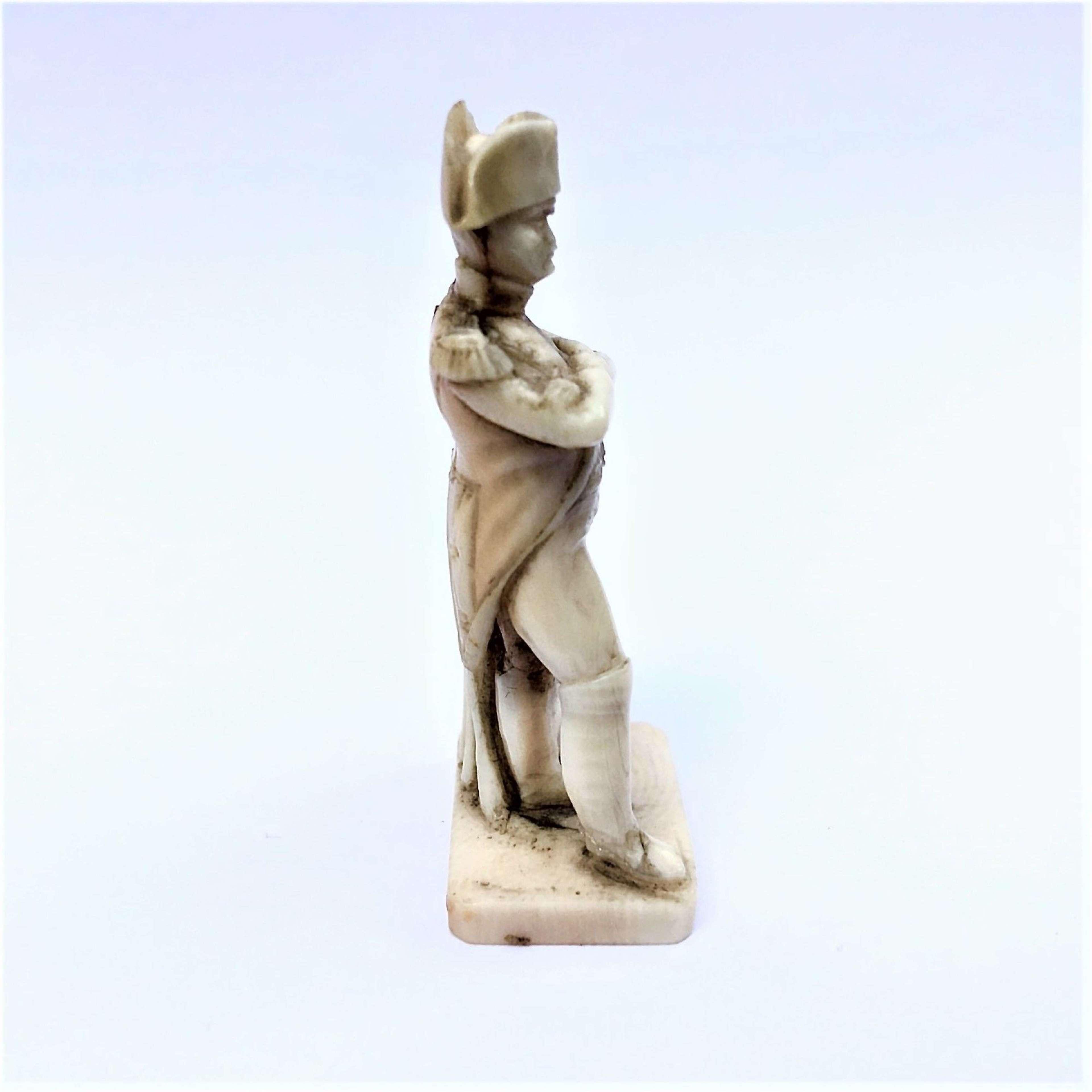 A Miniature Dieppe Bone Carving Of Napoleon Bonaparte In Antique Sculptures