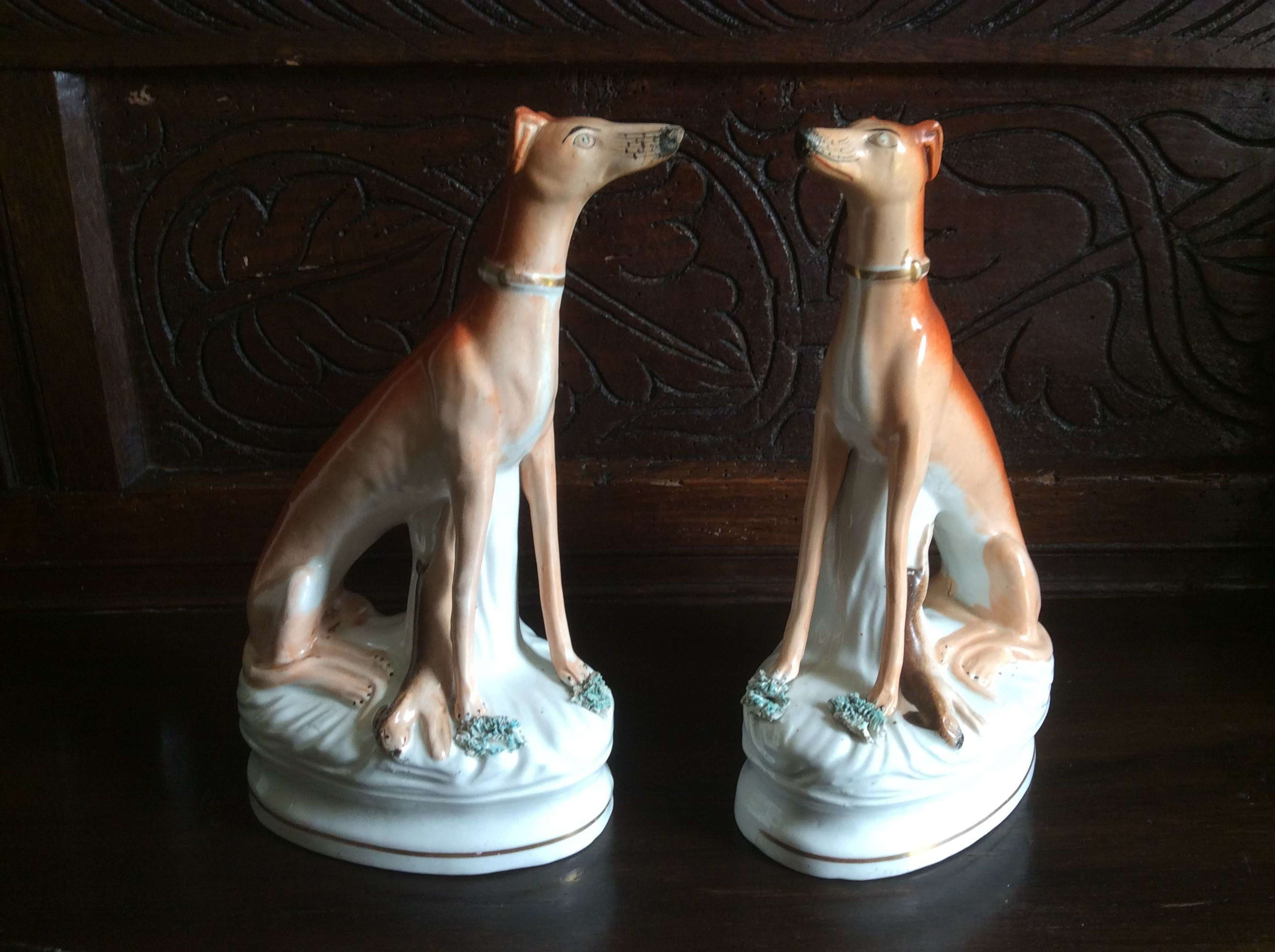 Pair of Staffordshire Greyhounds