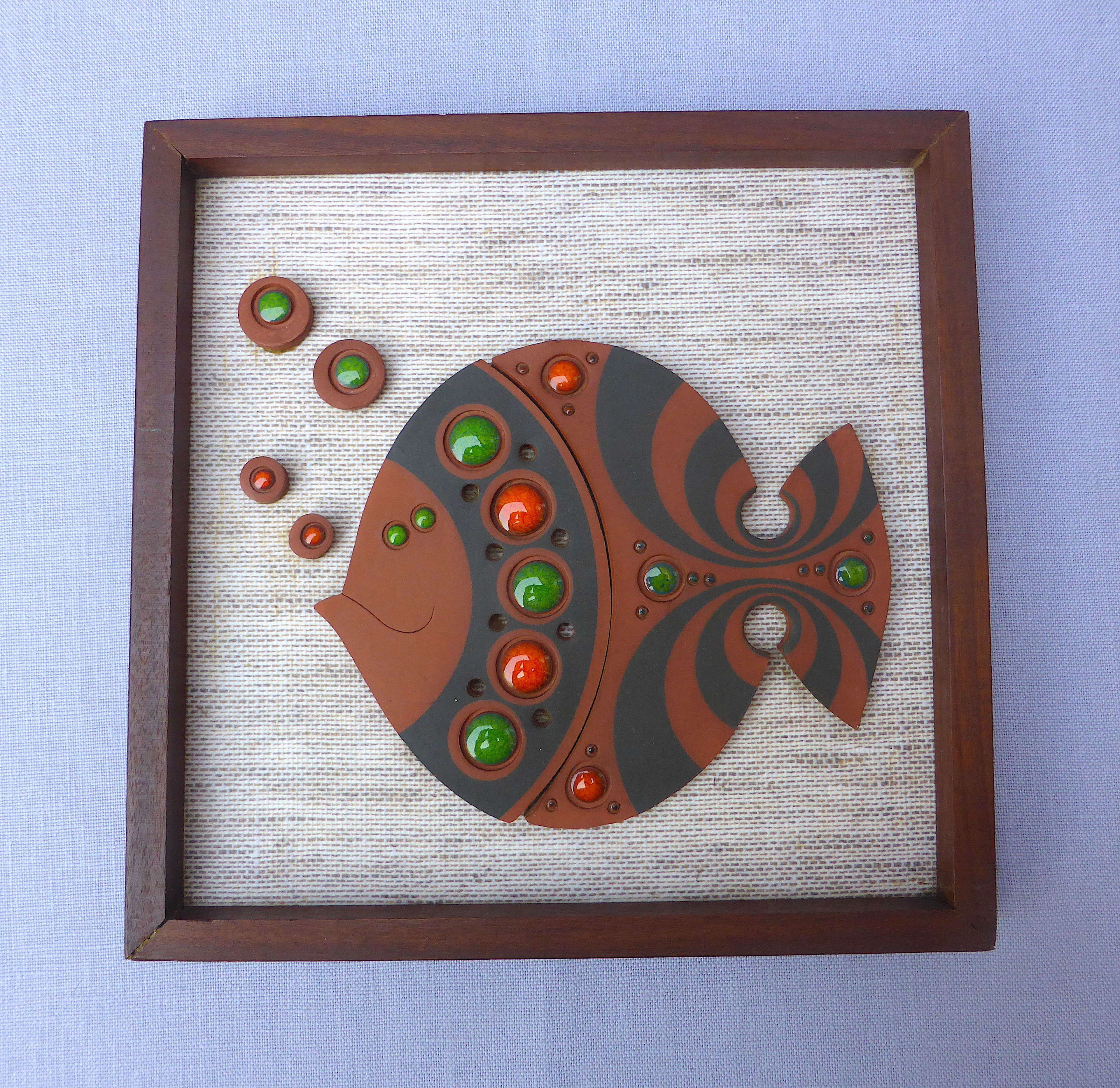 Hornsea Muramic Fish Wall Plaque