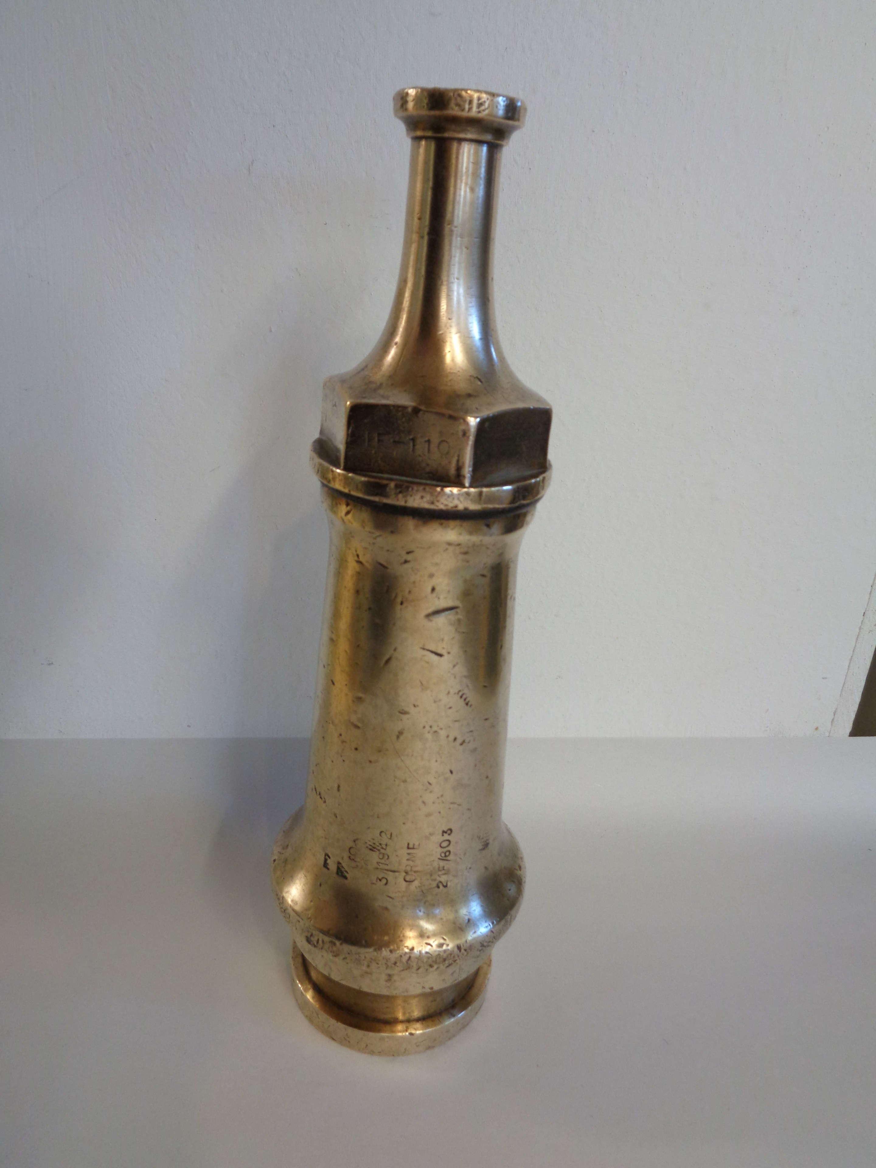 Vintage Brass Fire Hose Nozzle