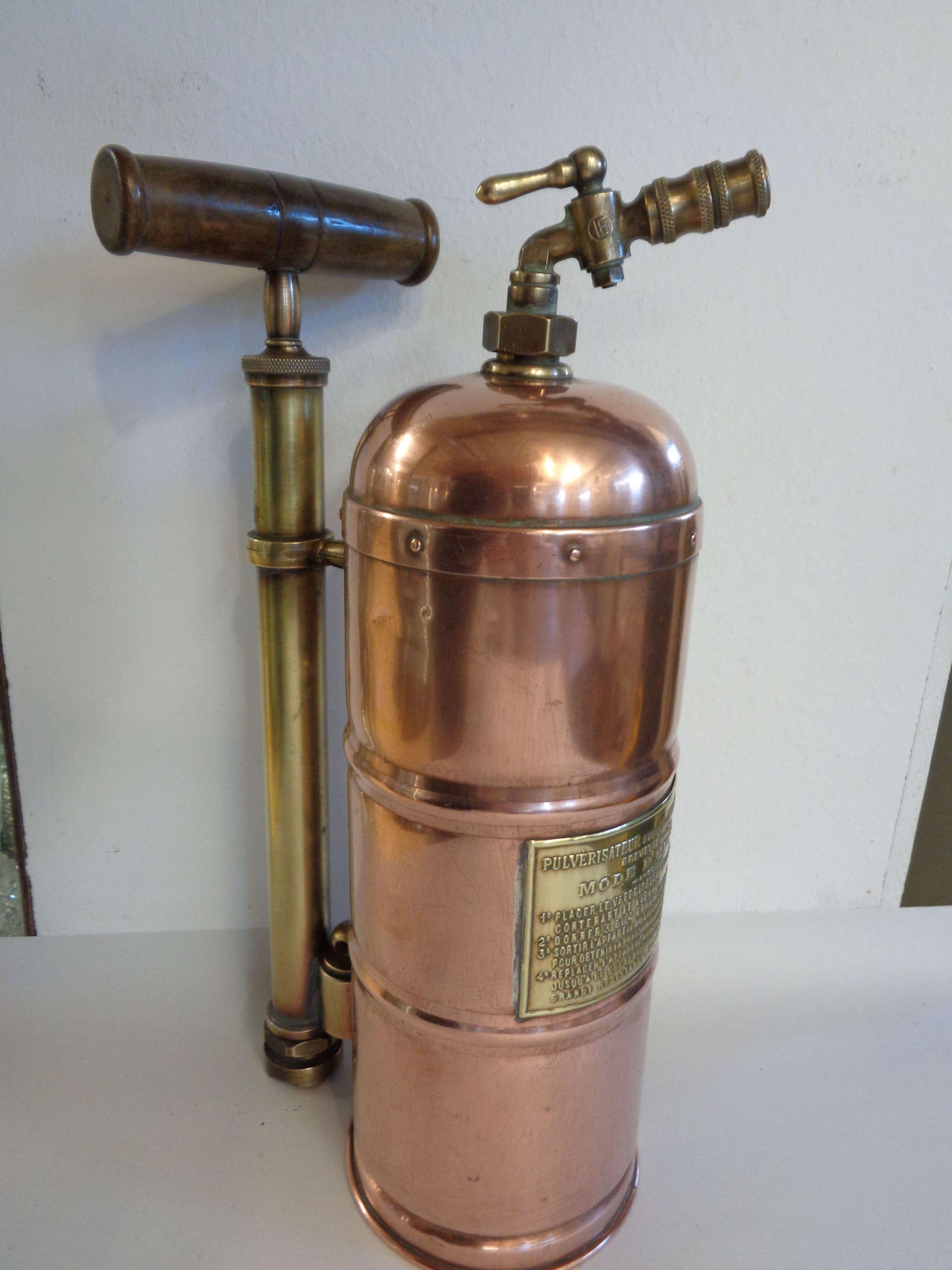Vintage French Copper & Brass Pulverizer