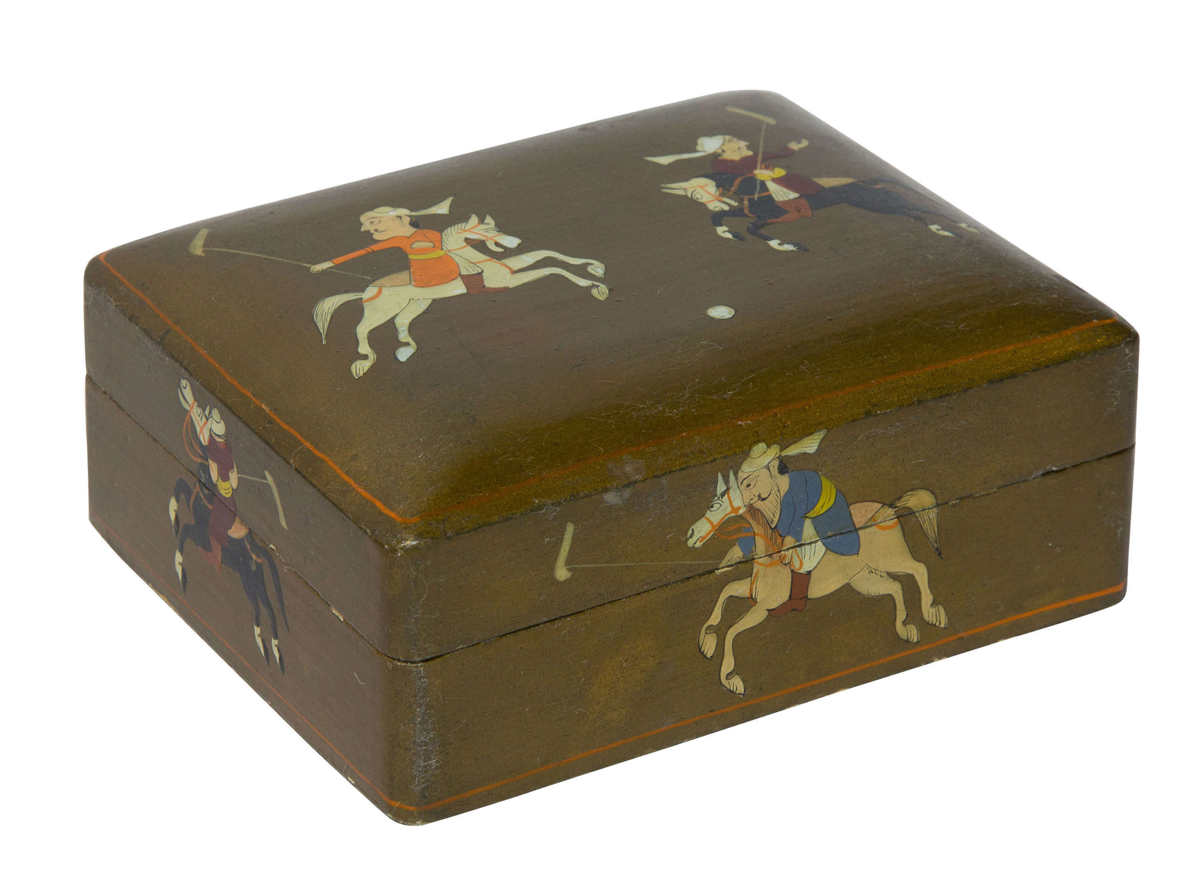 Indian Lacquer Box c1900