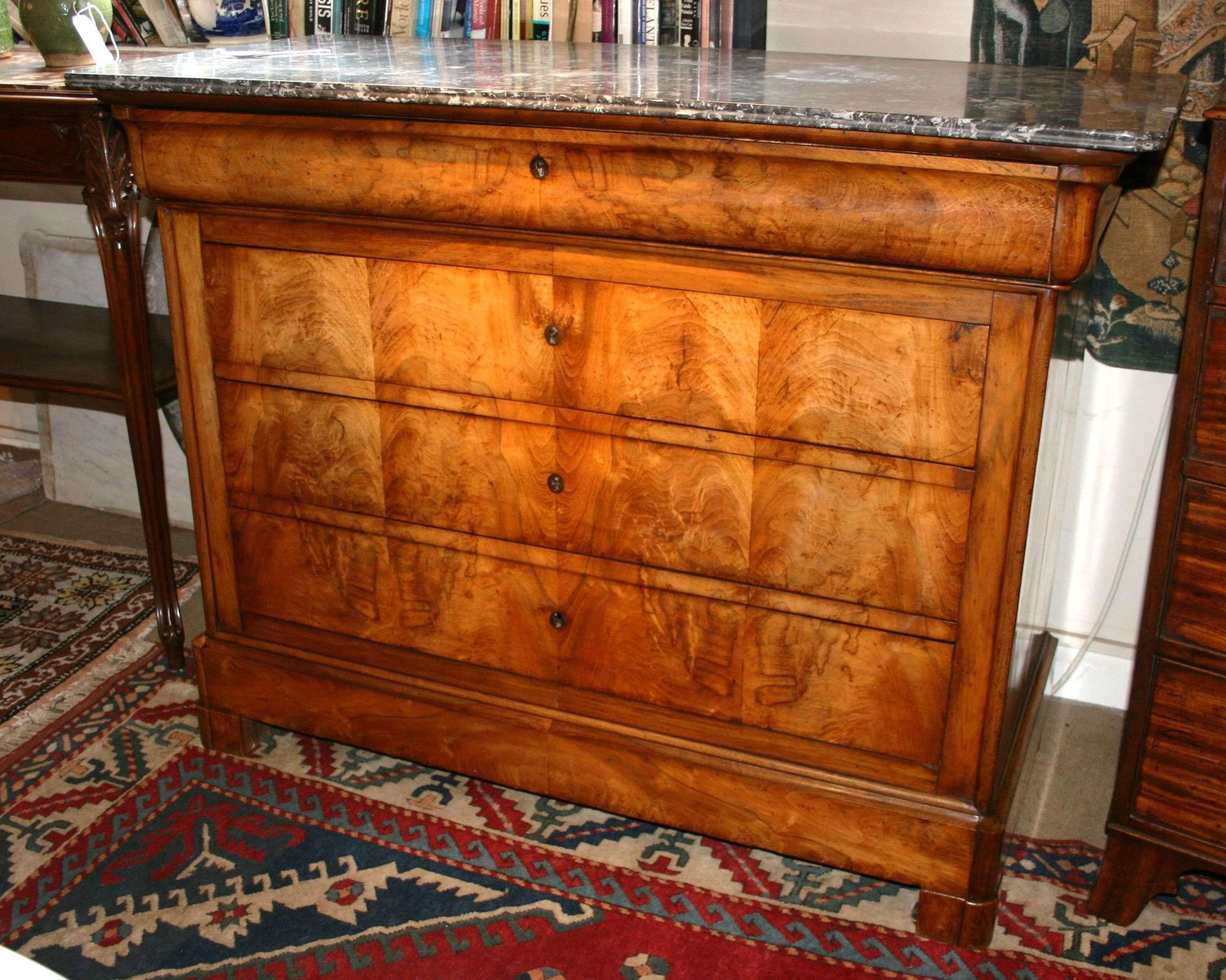 Louis Philippe walnut commode