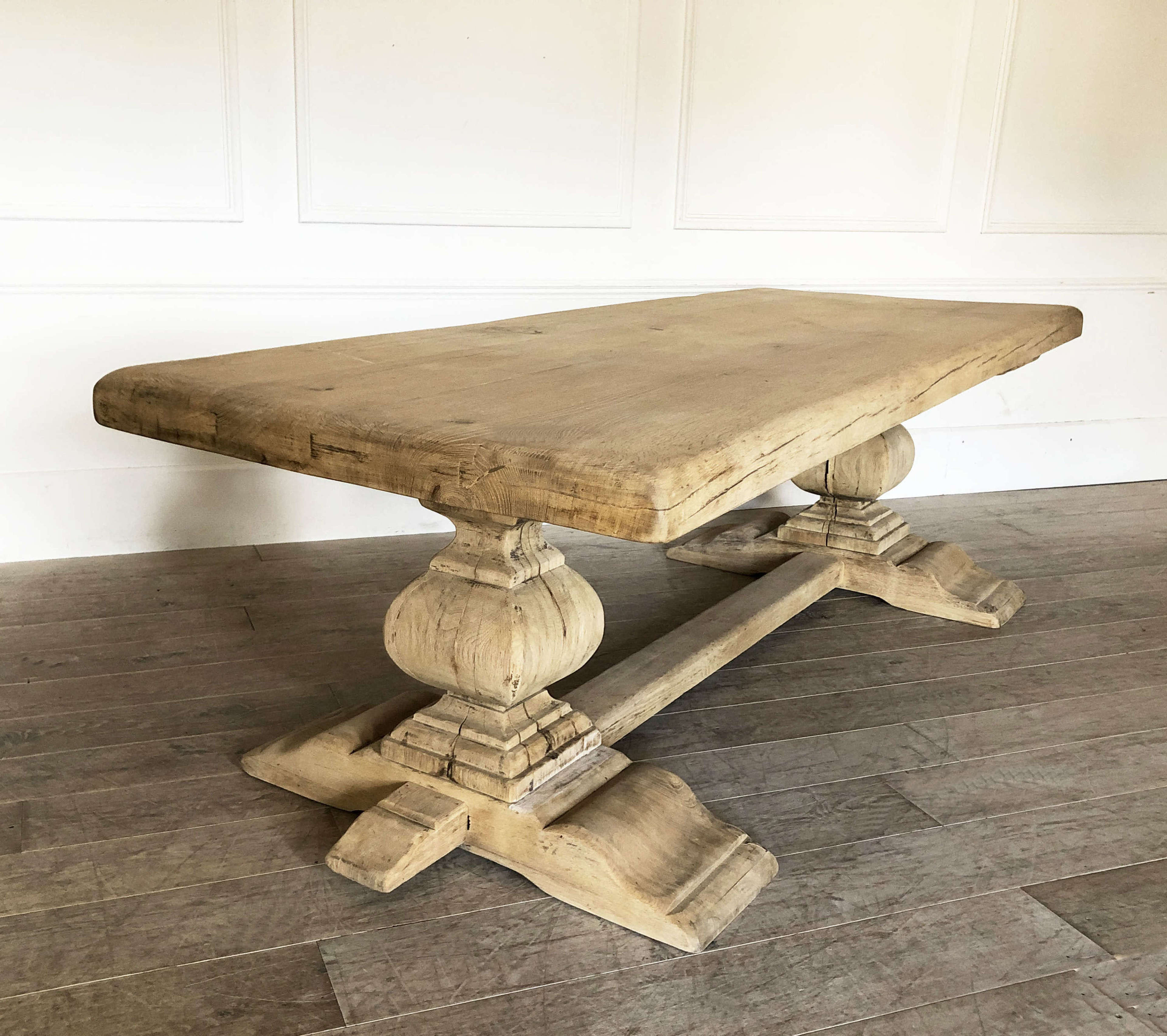 French Oak Monastery Dining Table - circa 1940