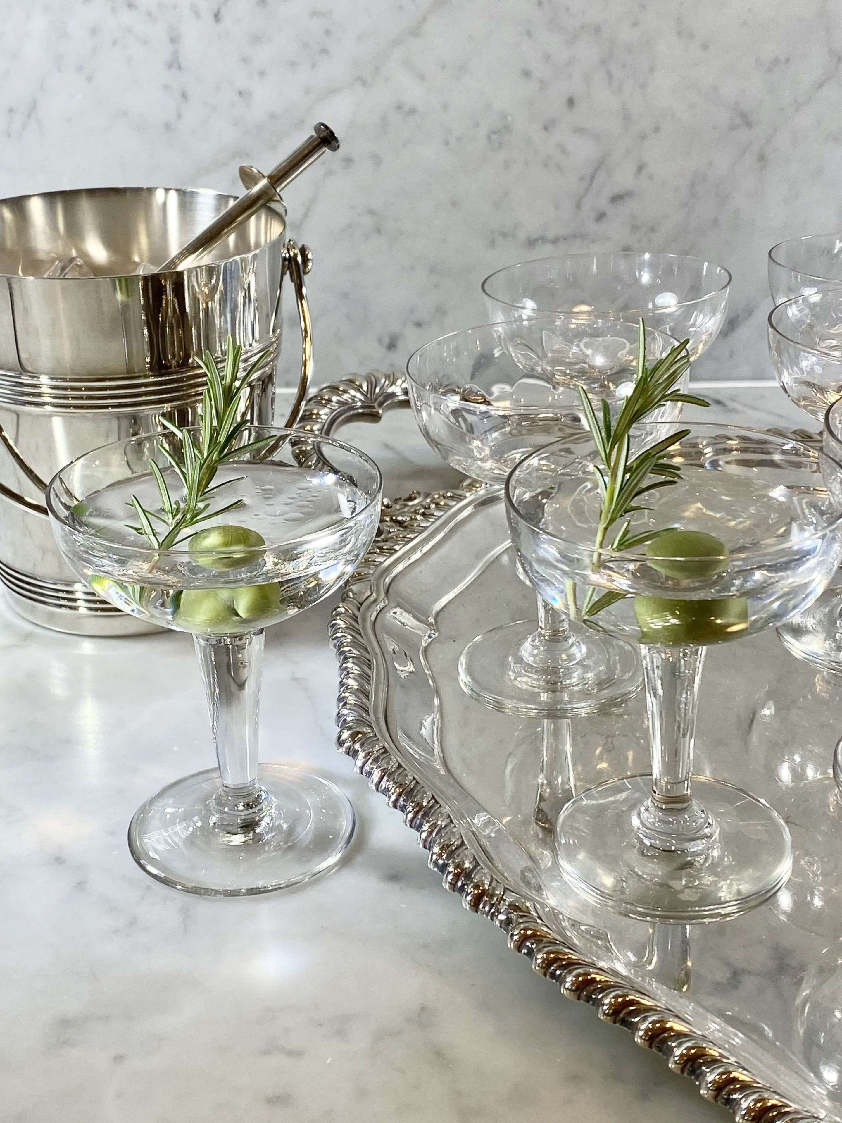 Art Deco Dimple Glass Champagne Or Cocktail Coupes In Antique Wine Glasses Carafes Drinking Glasses