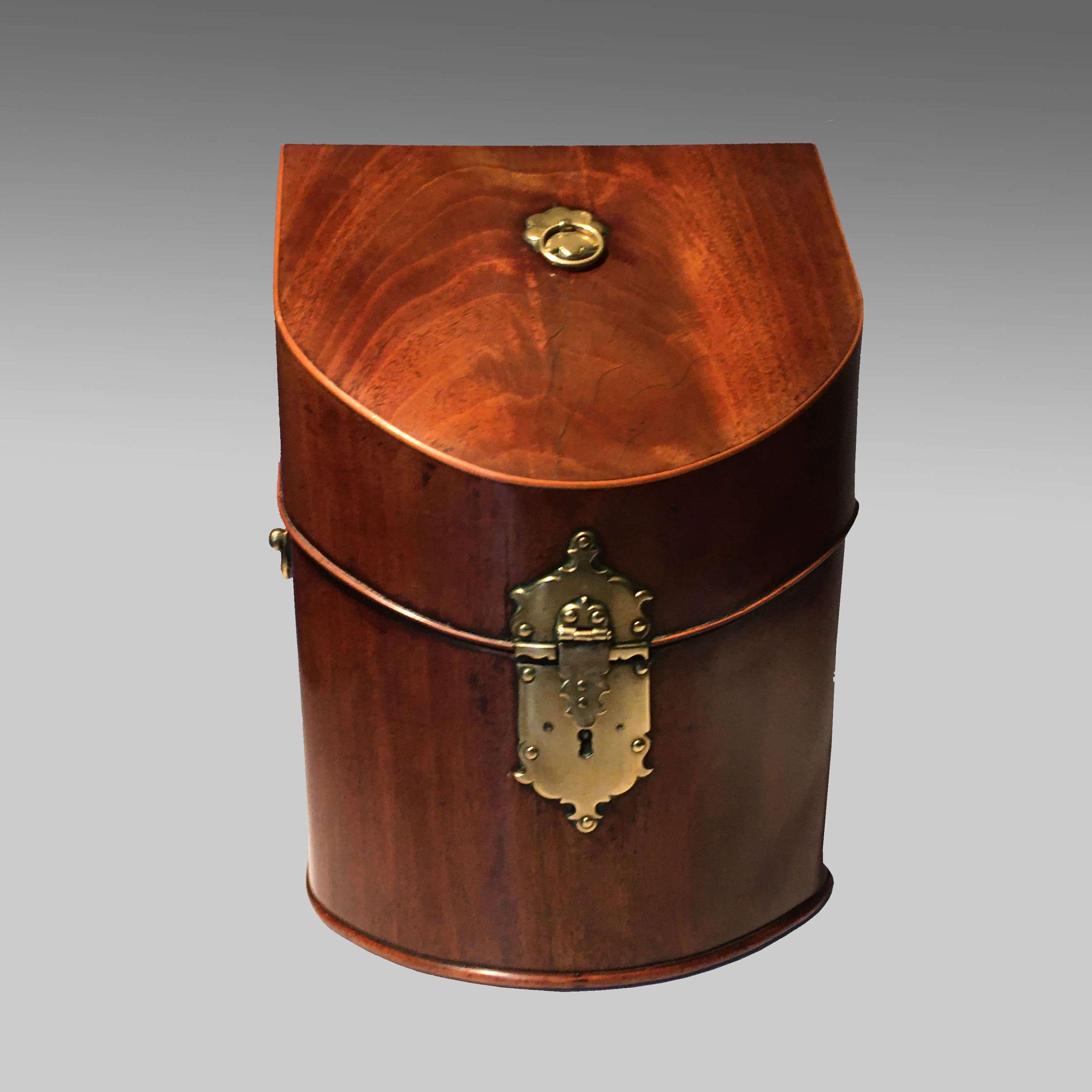 Early Georgian mahogany cutlery box