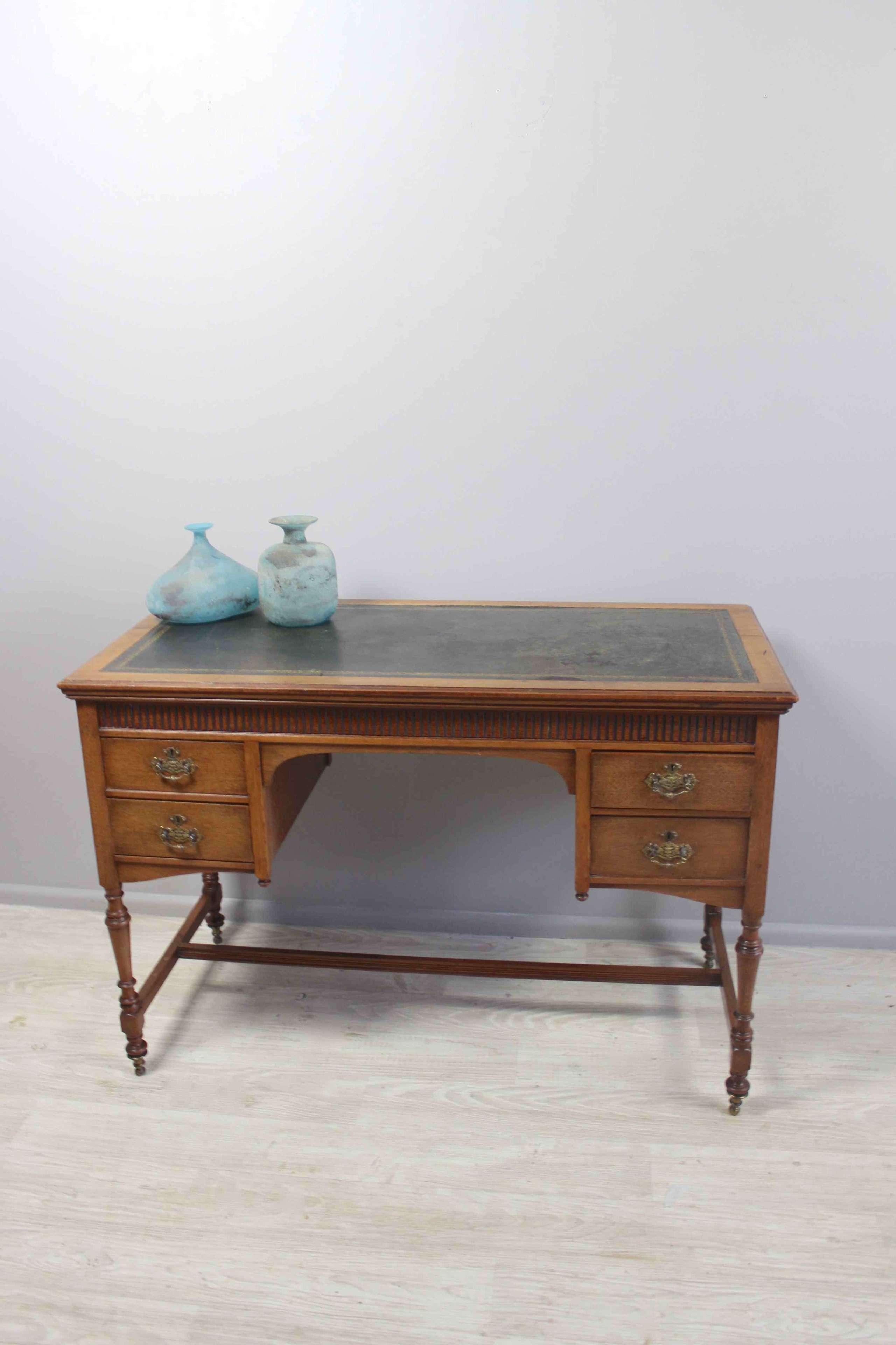 English Edwardian satin wood desk