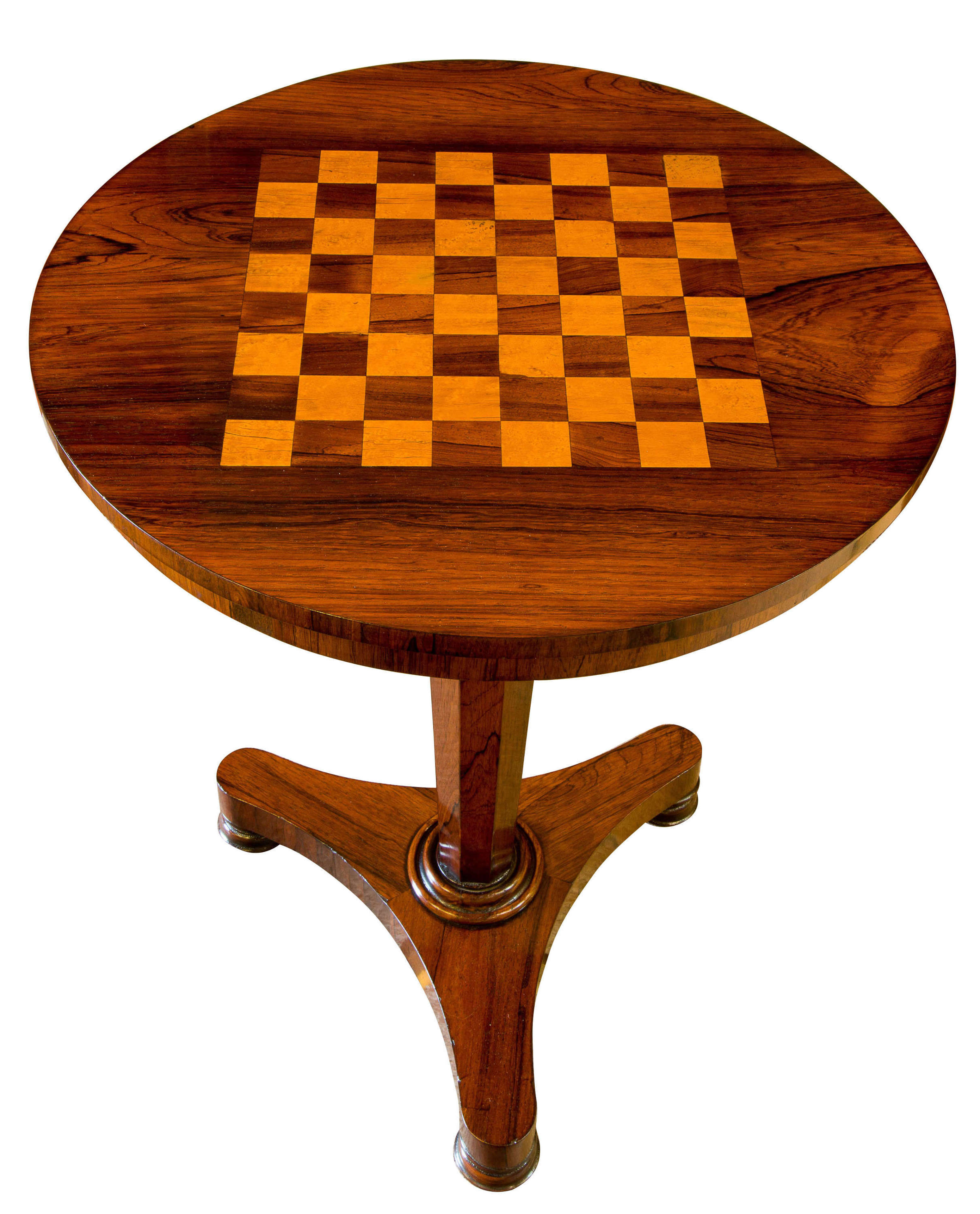 Early Victorian Rosewood Chess Table