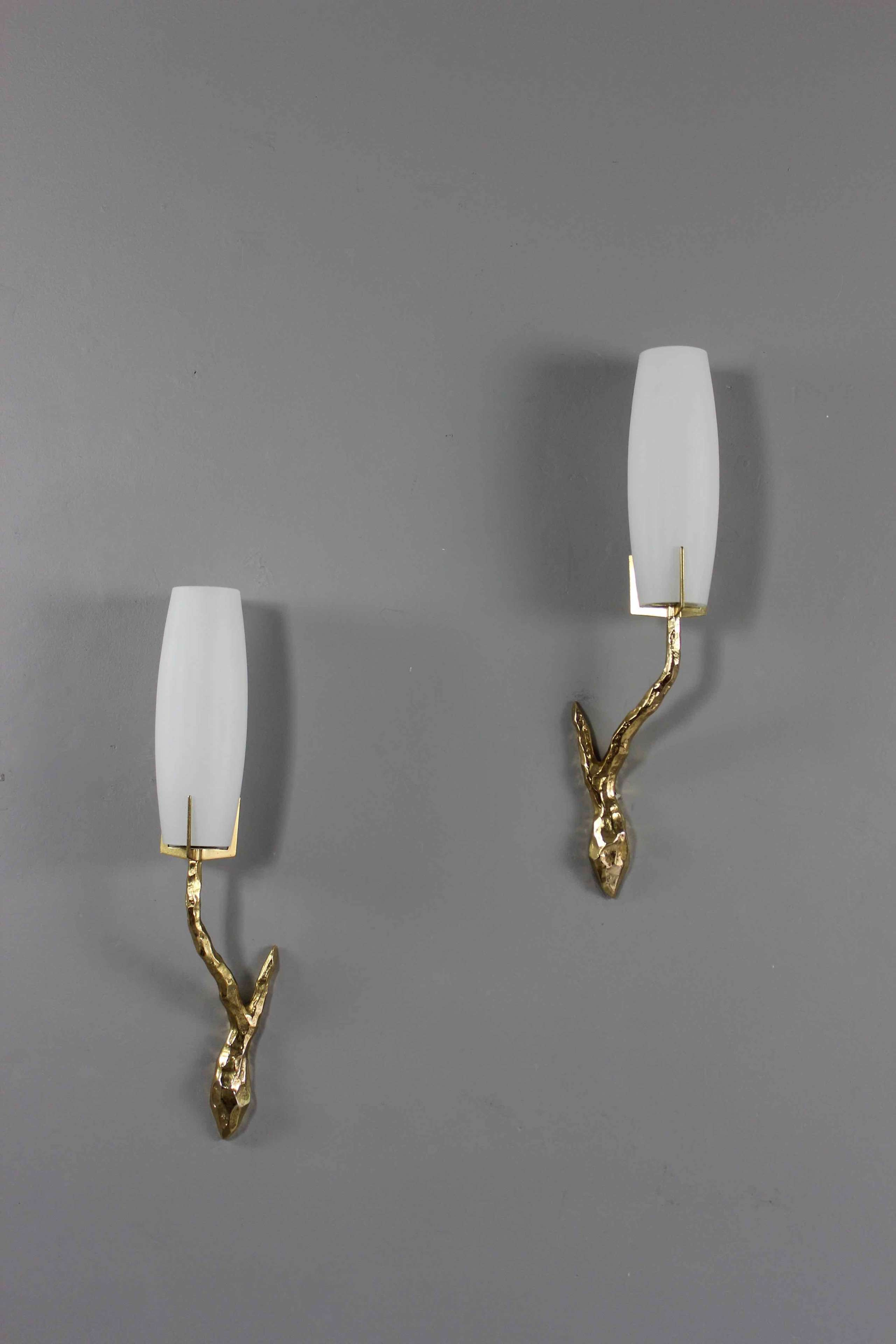 Pair of wall sconces by Felix Agostini