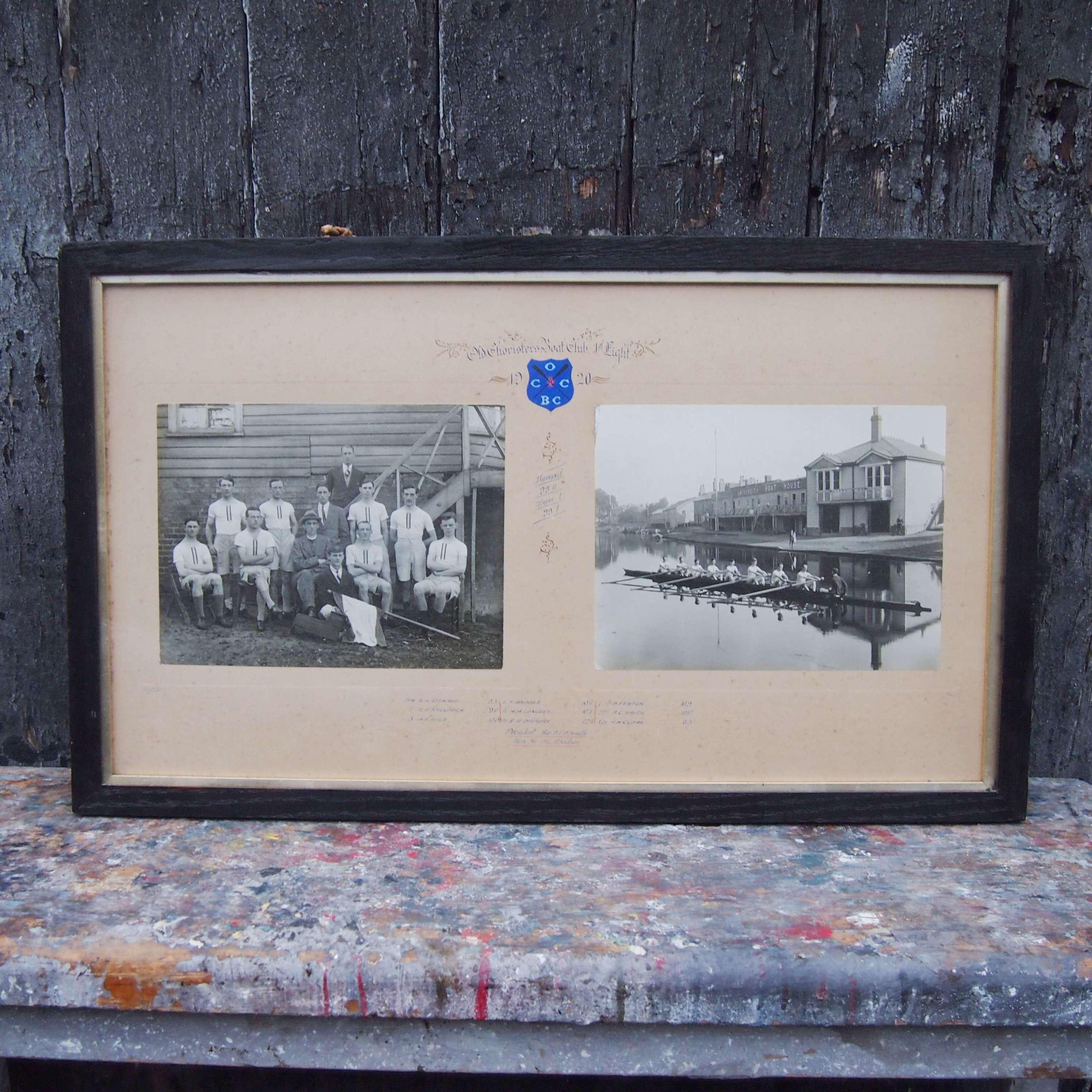 Antique Cambridge University Framed Rowing Photograph.W8620