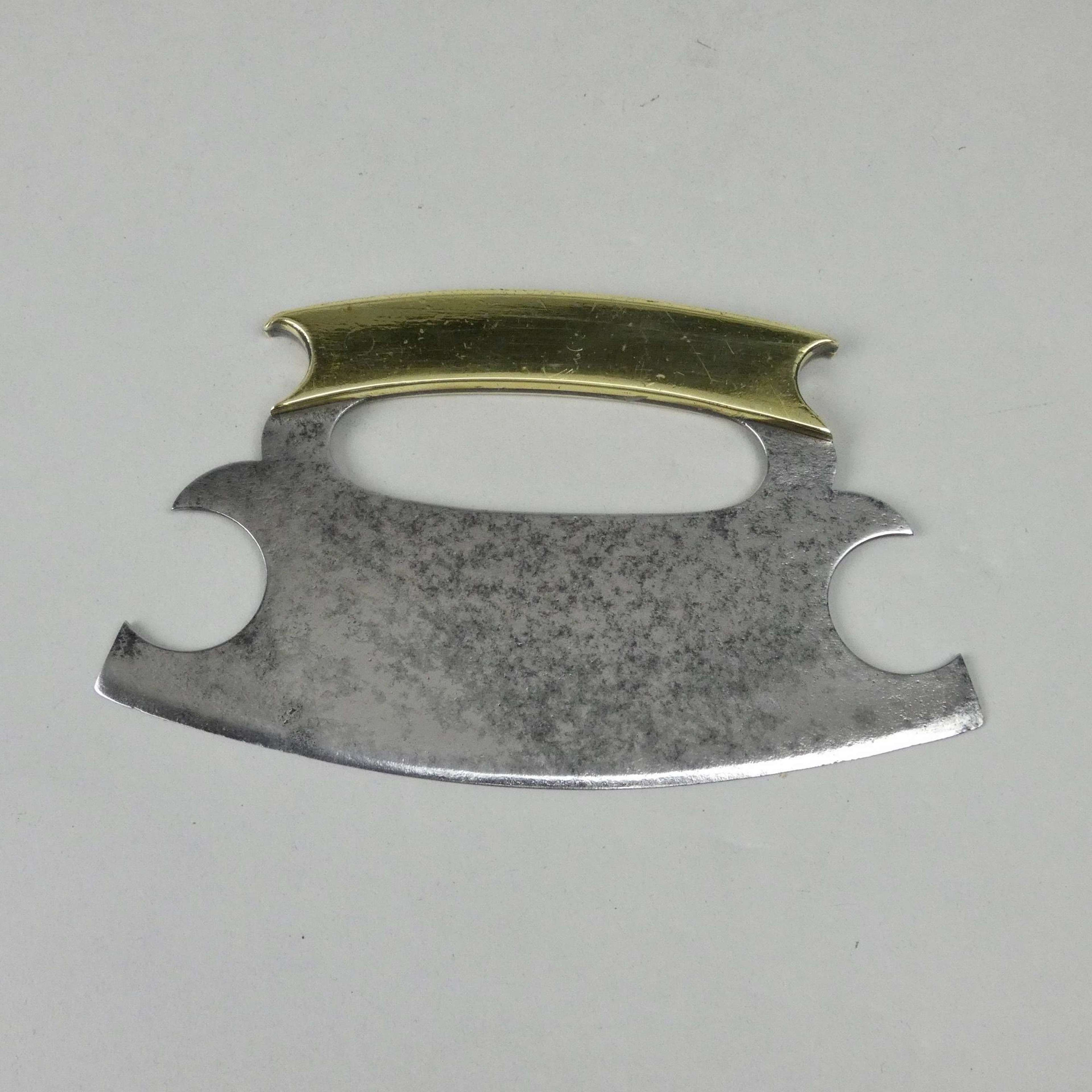 Steel & brass herb chopper