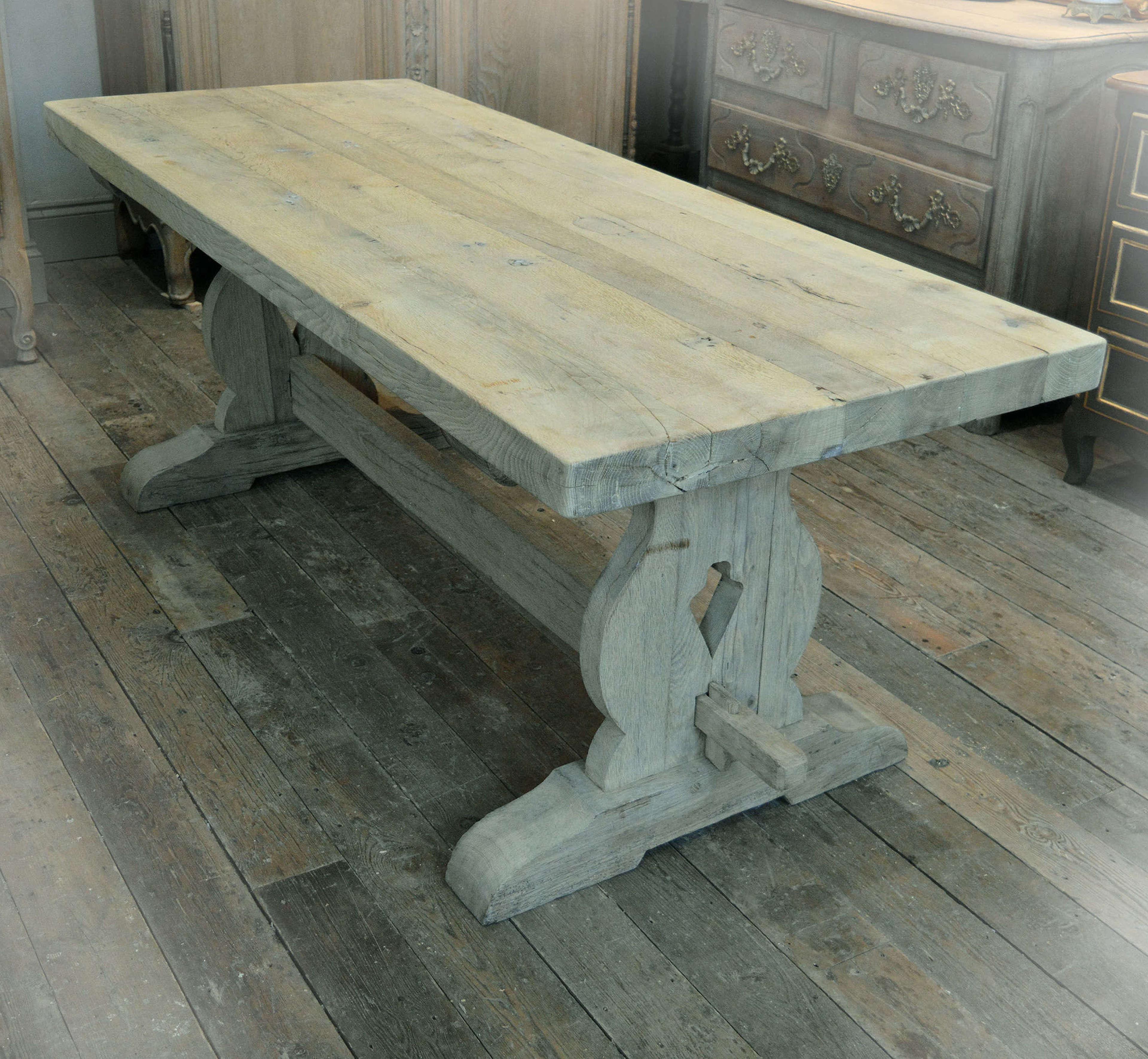 Heavy weathered Oak monastery table