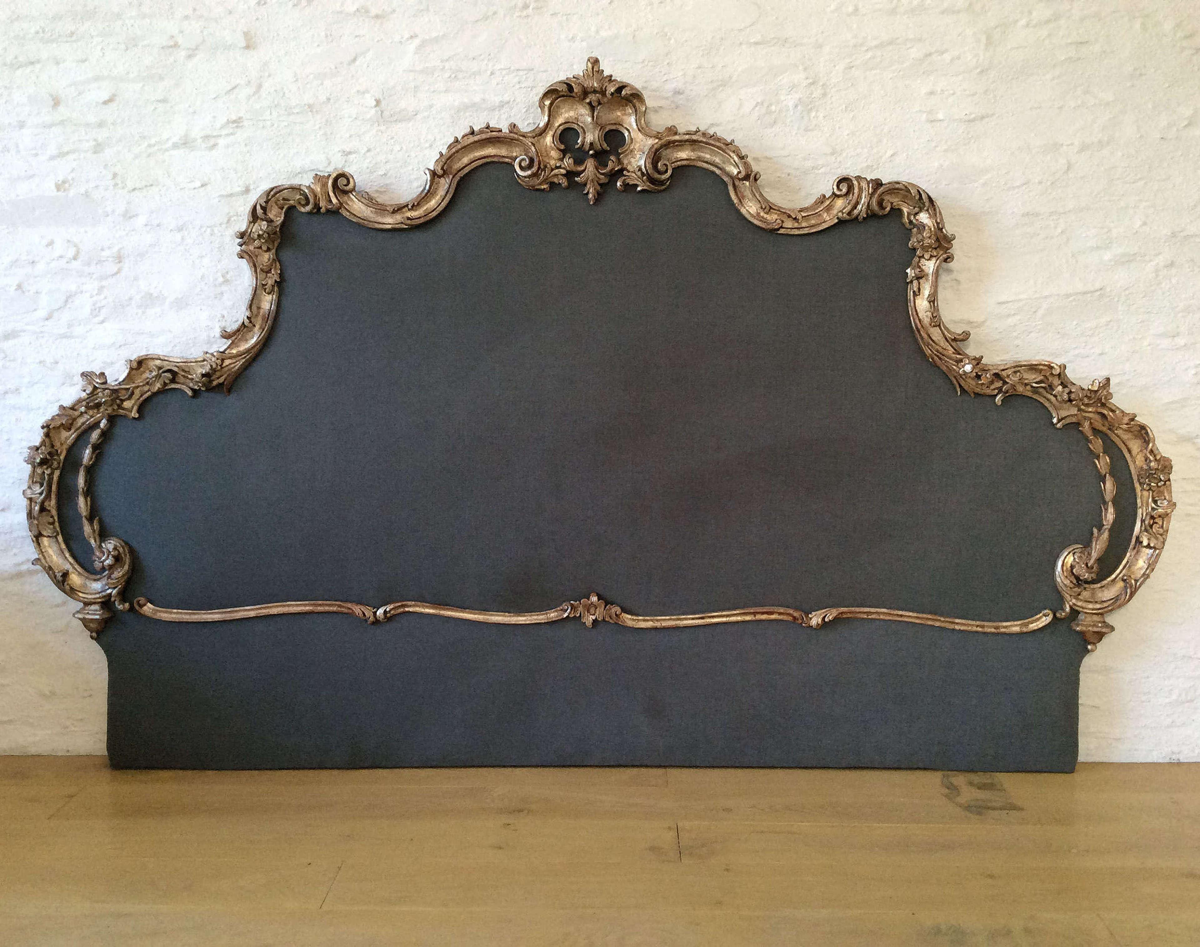 Super king Venetian Silver gilt Headboard