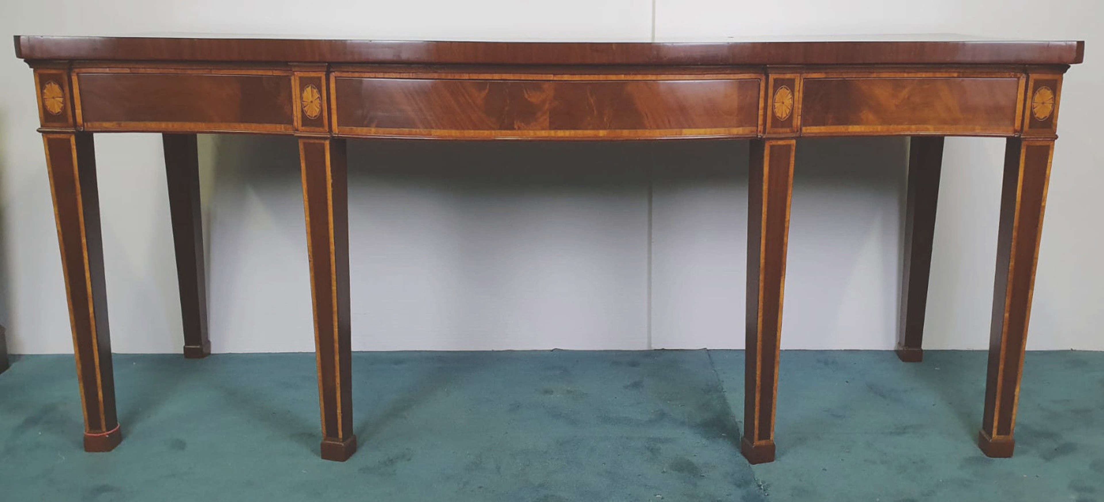 Georgian Inlaid Mahogany Side or Serving or Console Table