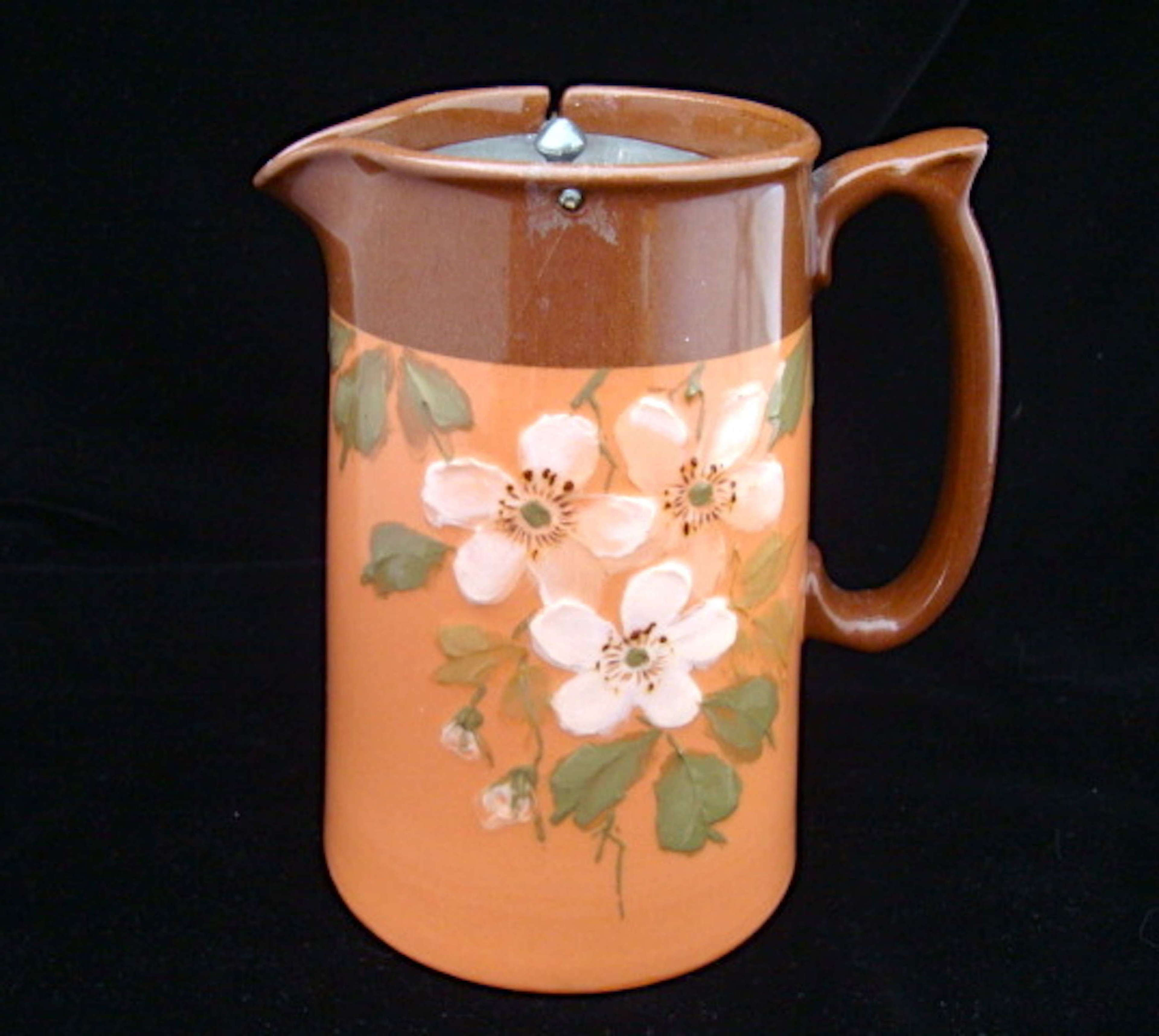 Antique Slip Decorated 19th Century Doulton Syrup Pot ~ 1870