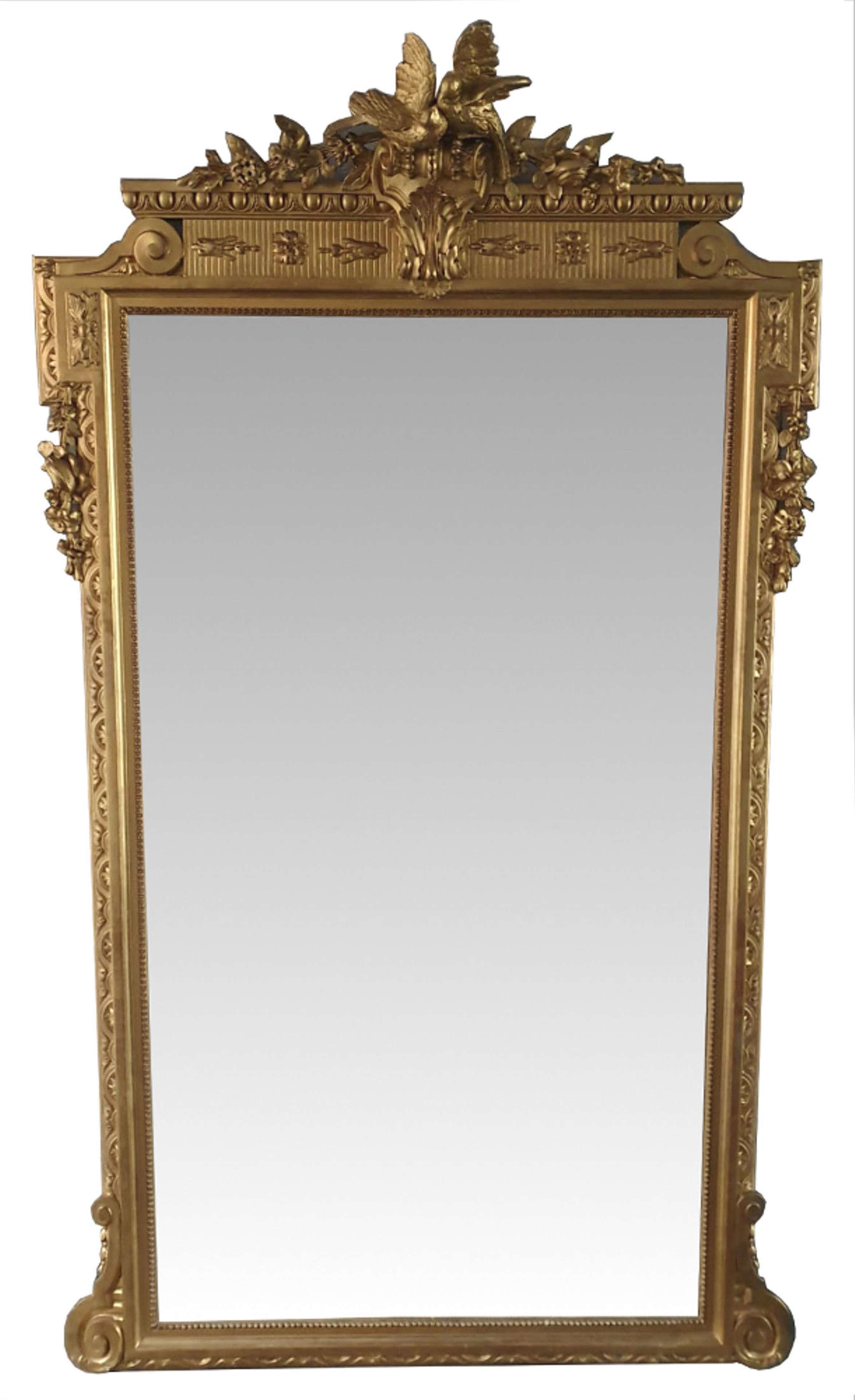 19th Century Gilt Dressing or Hall or Pier Mirror