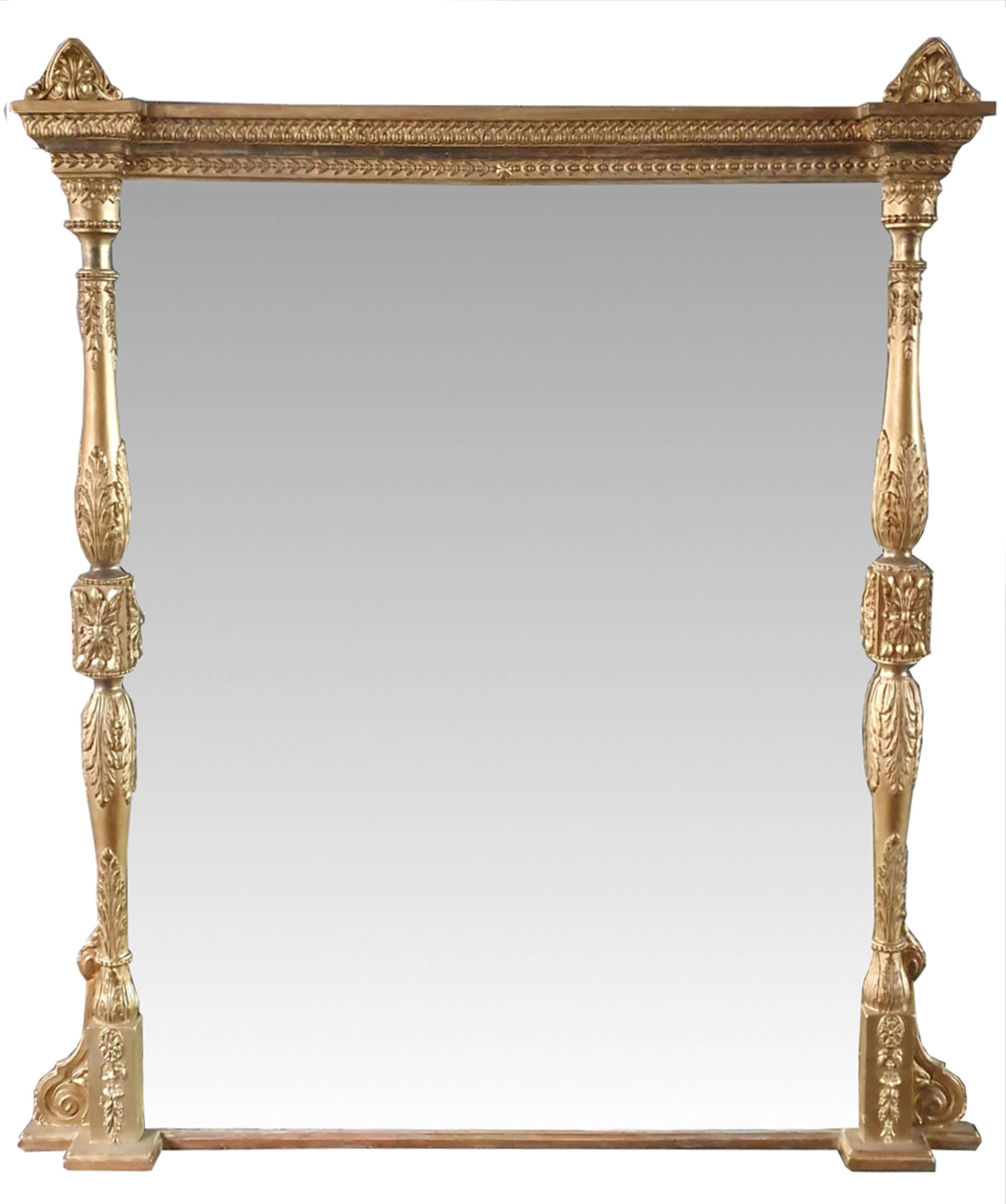 19th Century Rectangular Shaped Overmantle Mirror