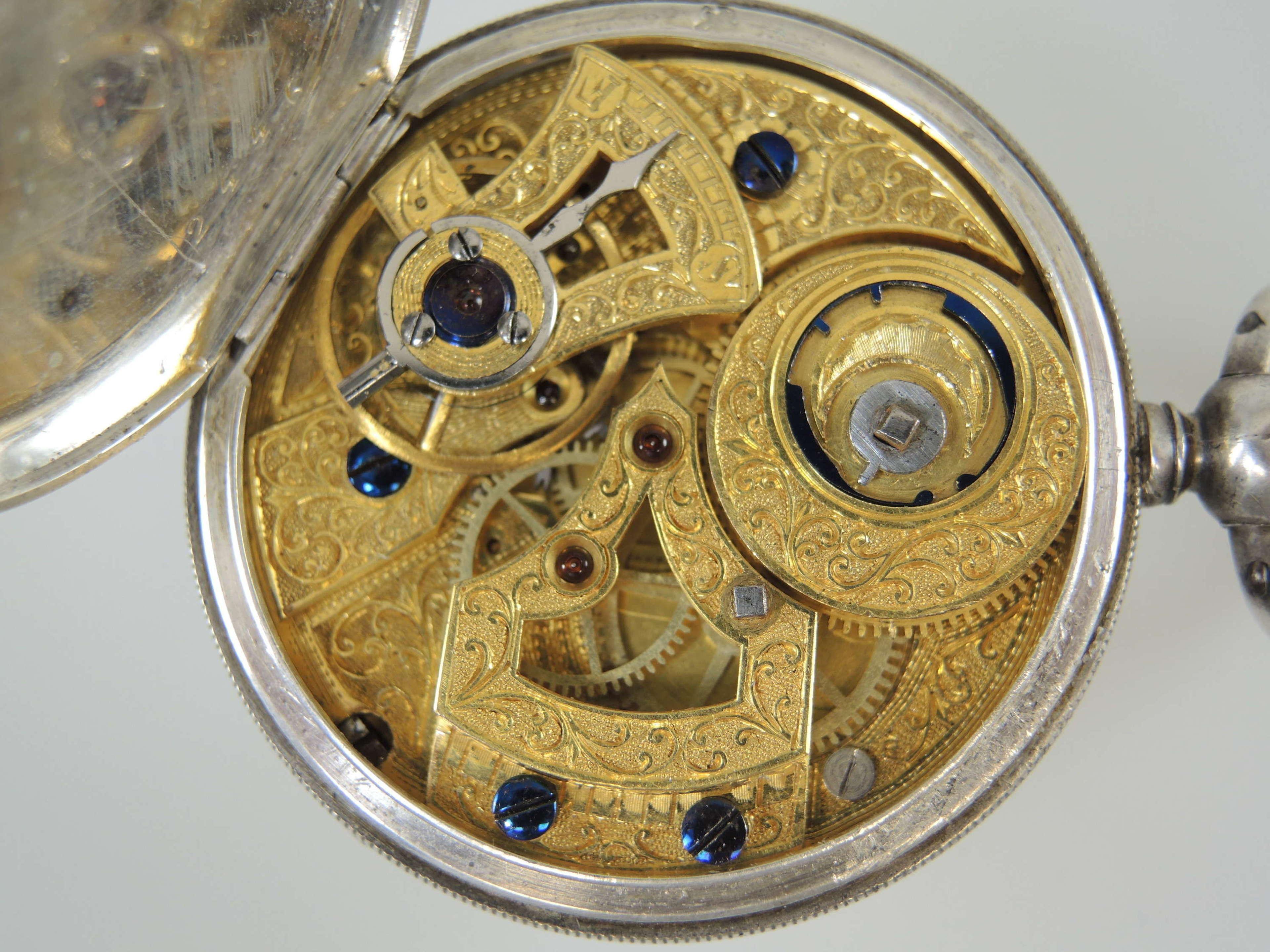 Silver Chinese Market Duplex pocket watch c1850