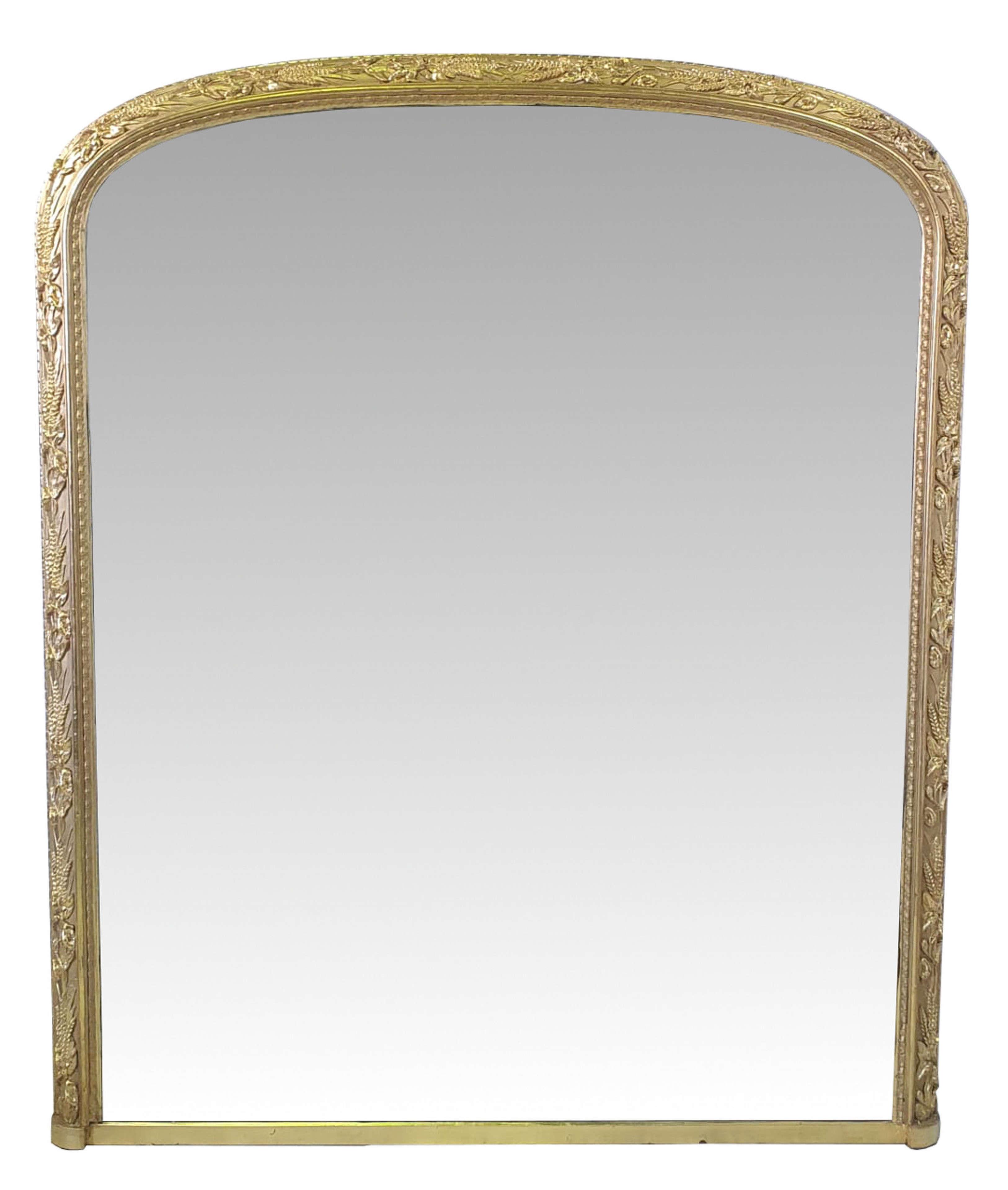 19th Century Gilt Framed Overmantle Mirror