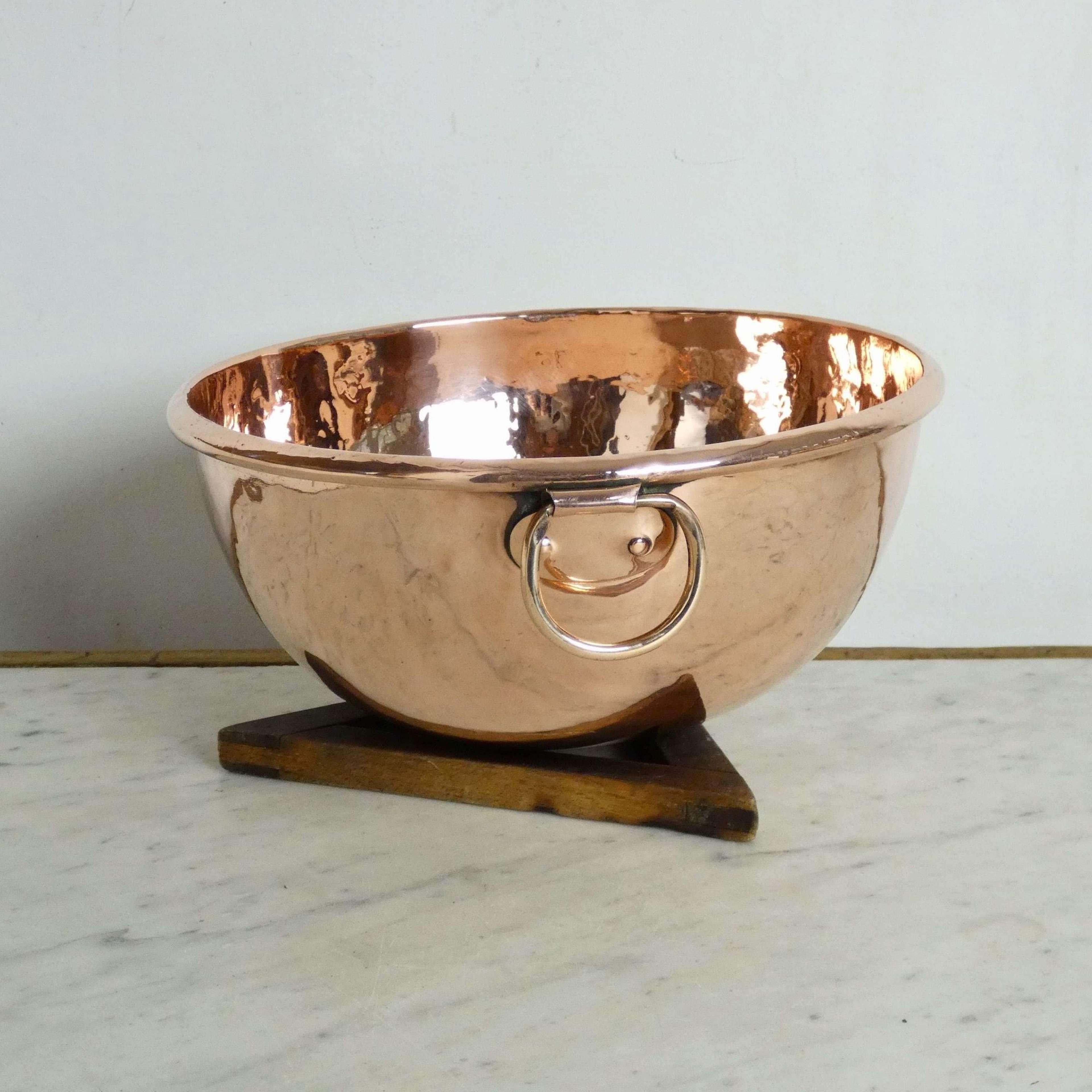 English Copper Egg Bowl