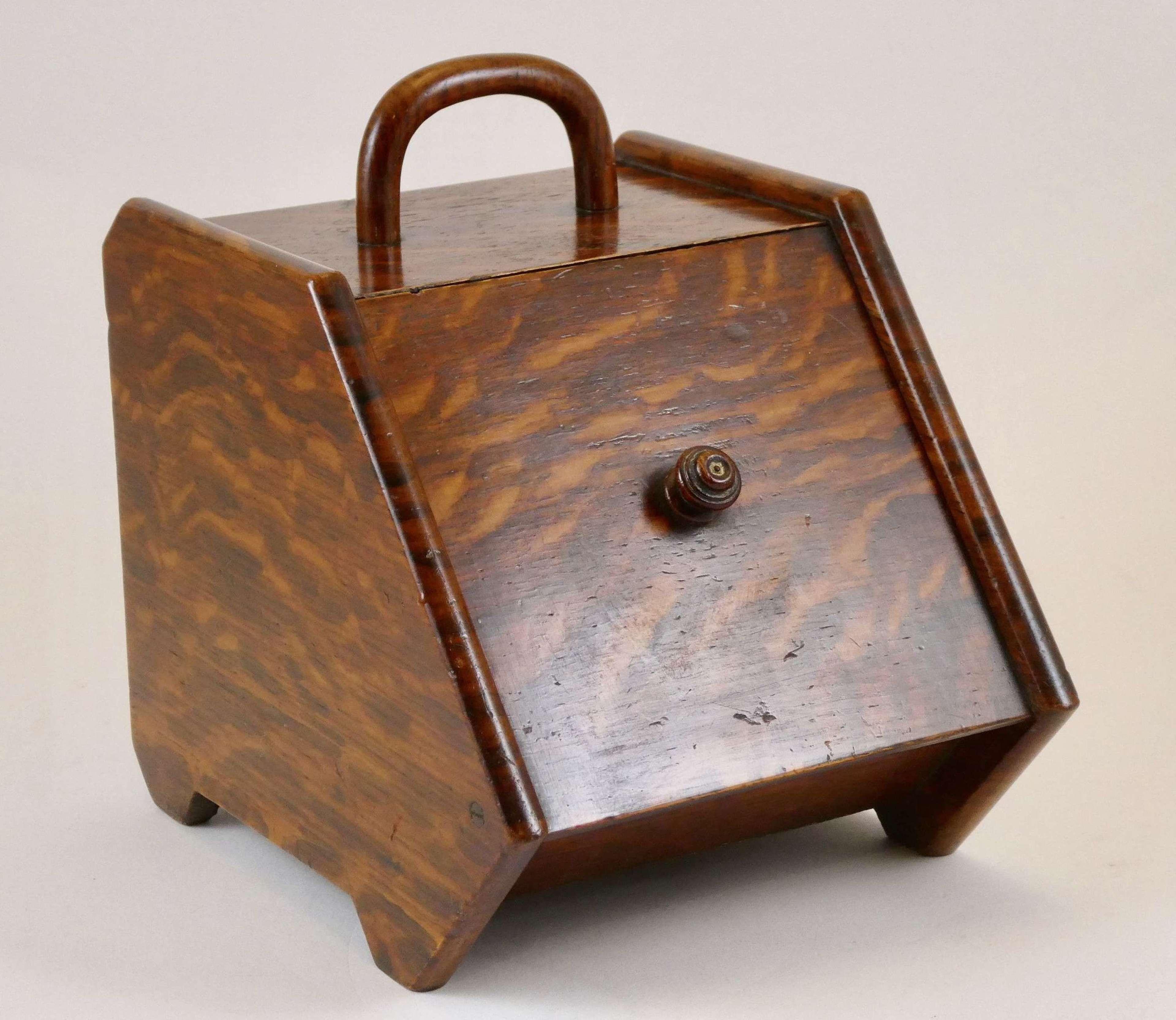 Late Victorian Oak Cigar Box