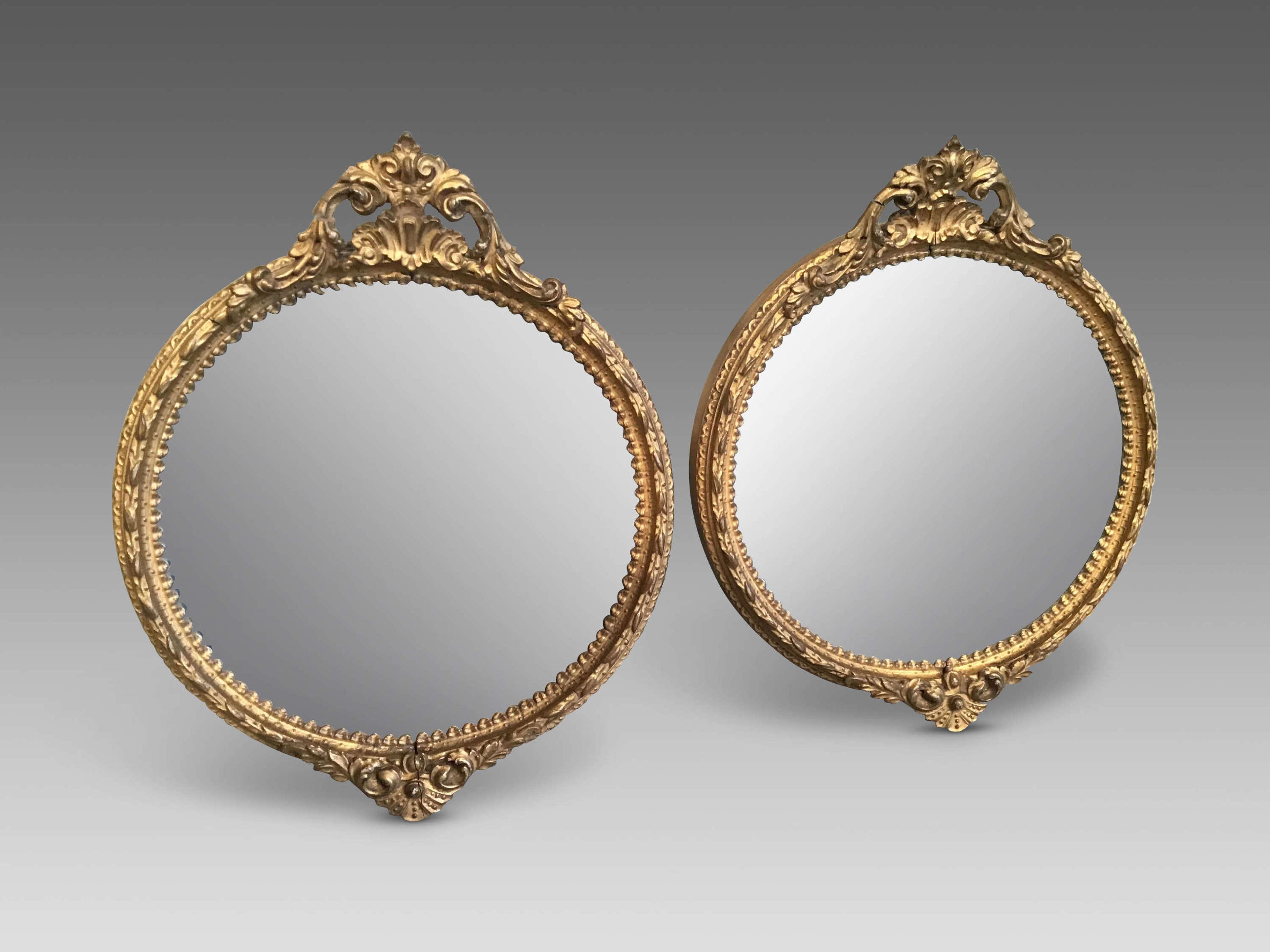 Pair of Victorian gilt mirrors