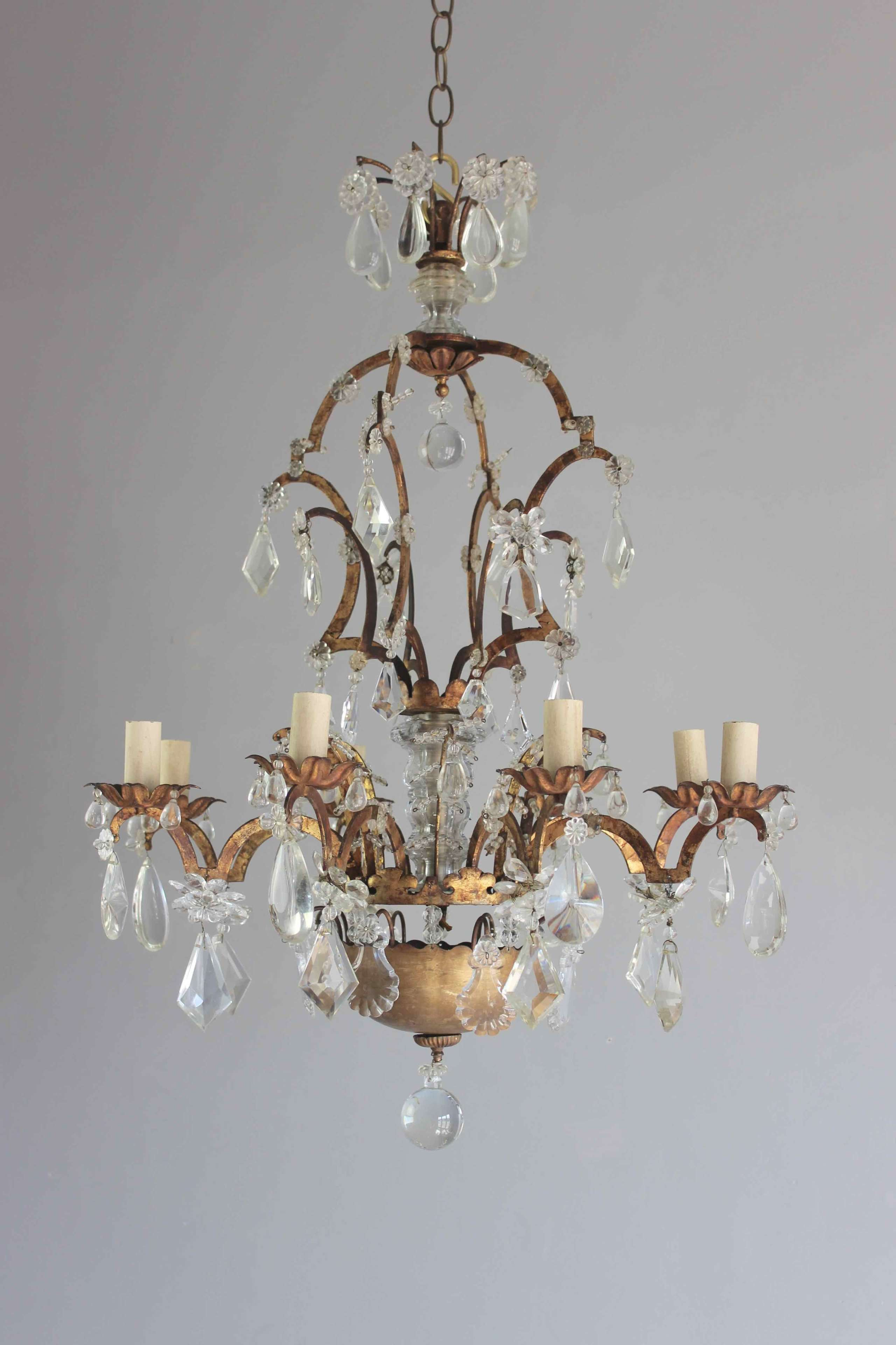 French Bagues style antique chandelier