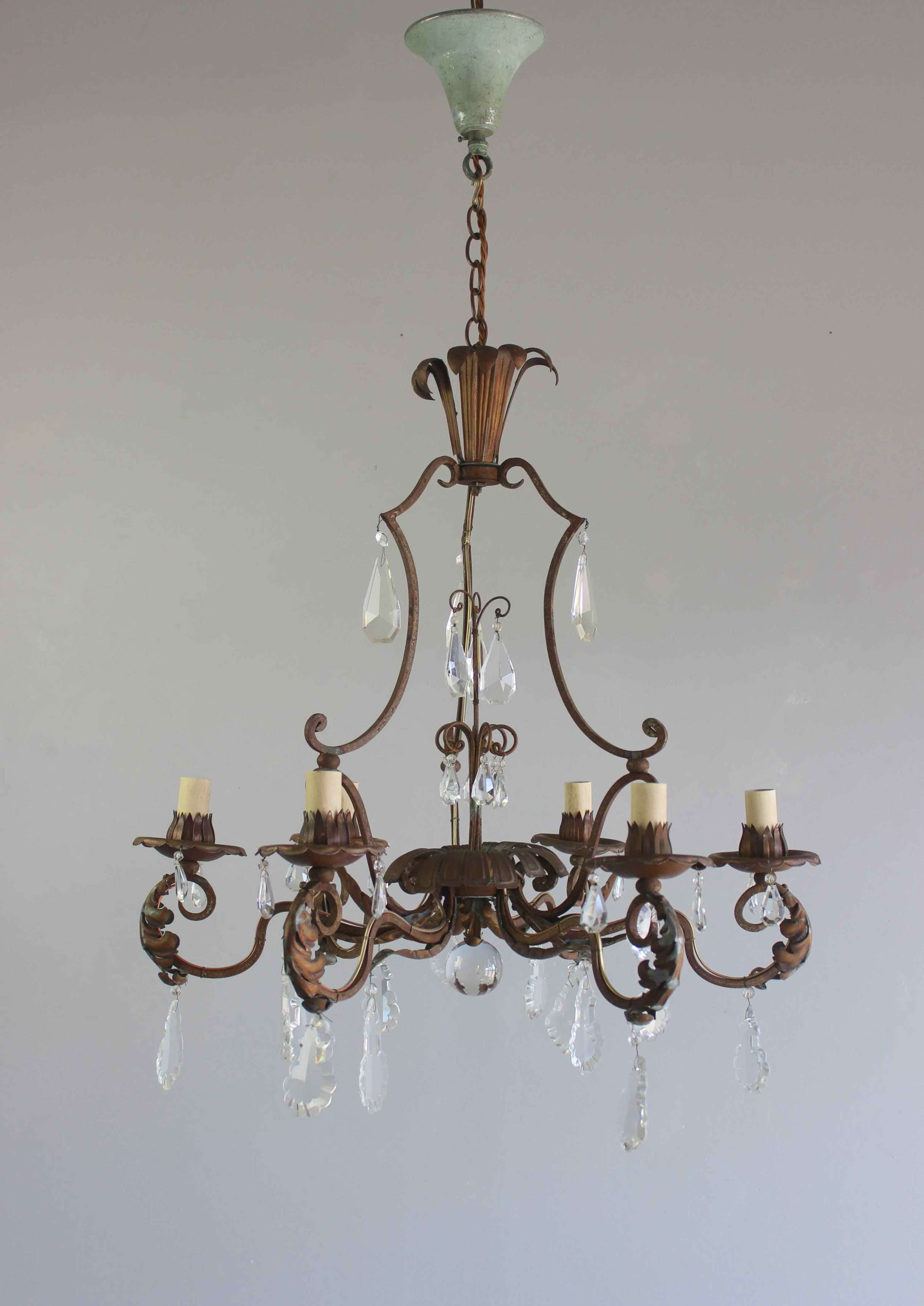 Pretty  French chandelier  for low ceilings