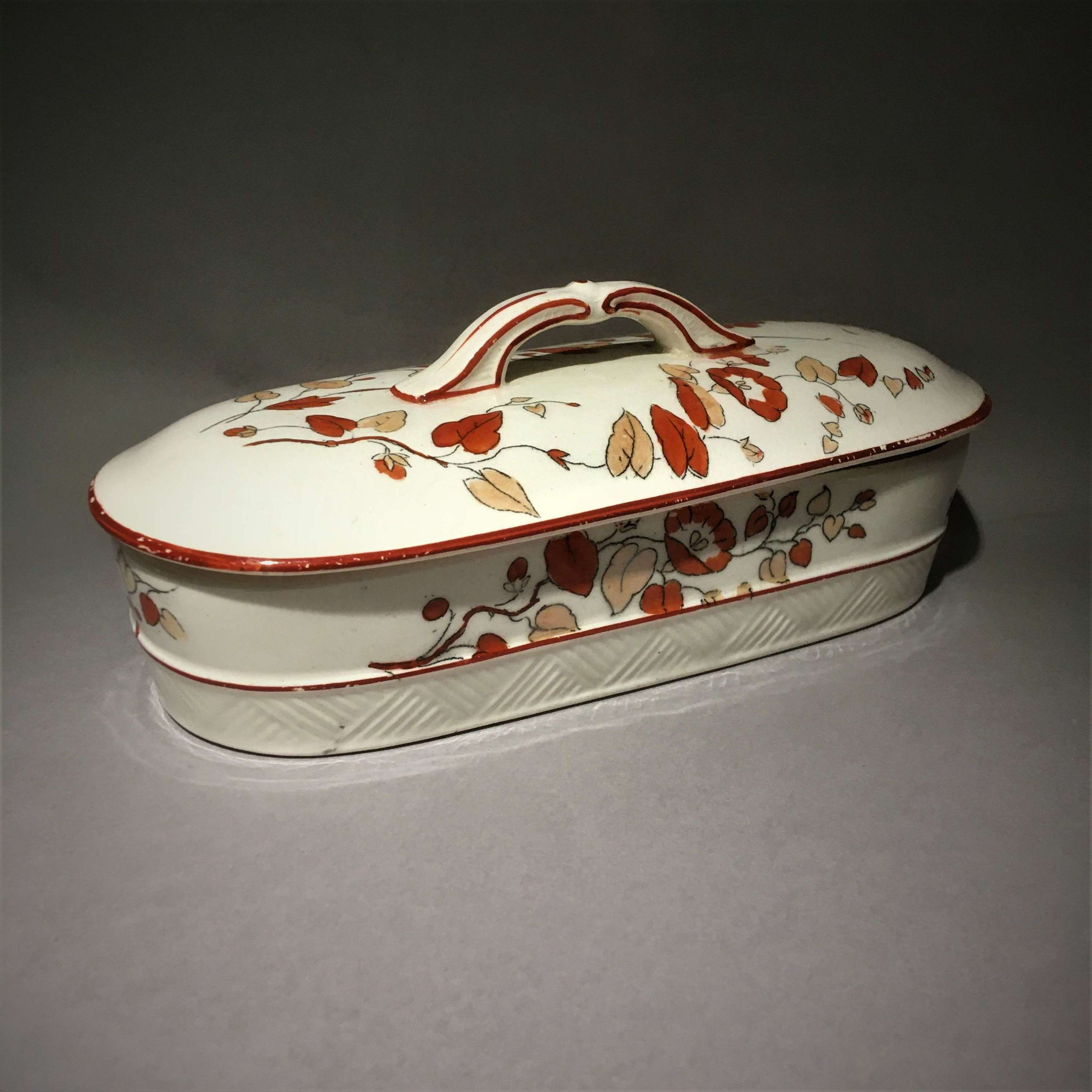 Antique Victorian Aesthetic Movement Toothbrush Box, Razor Holder