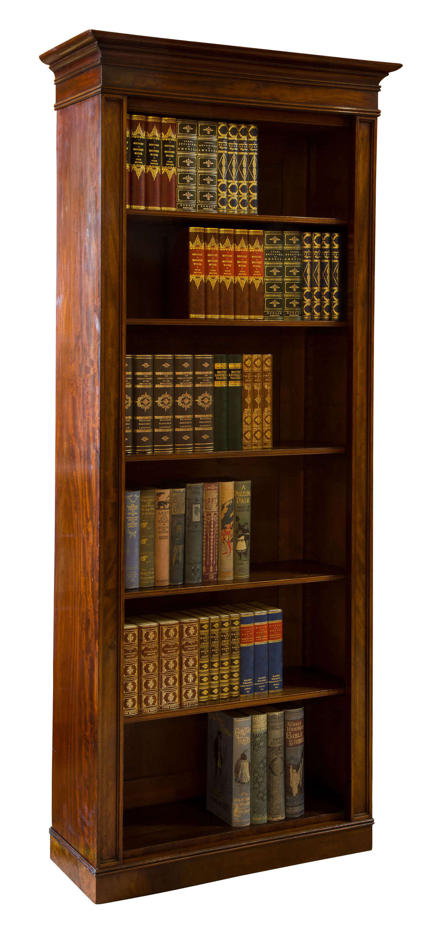 Regency mahogany bookshelves