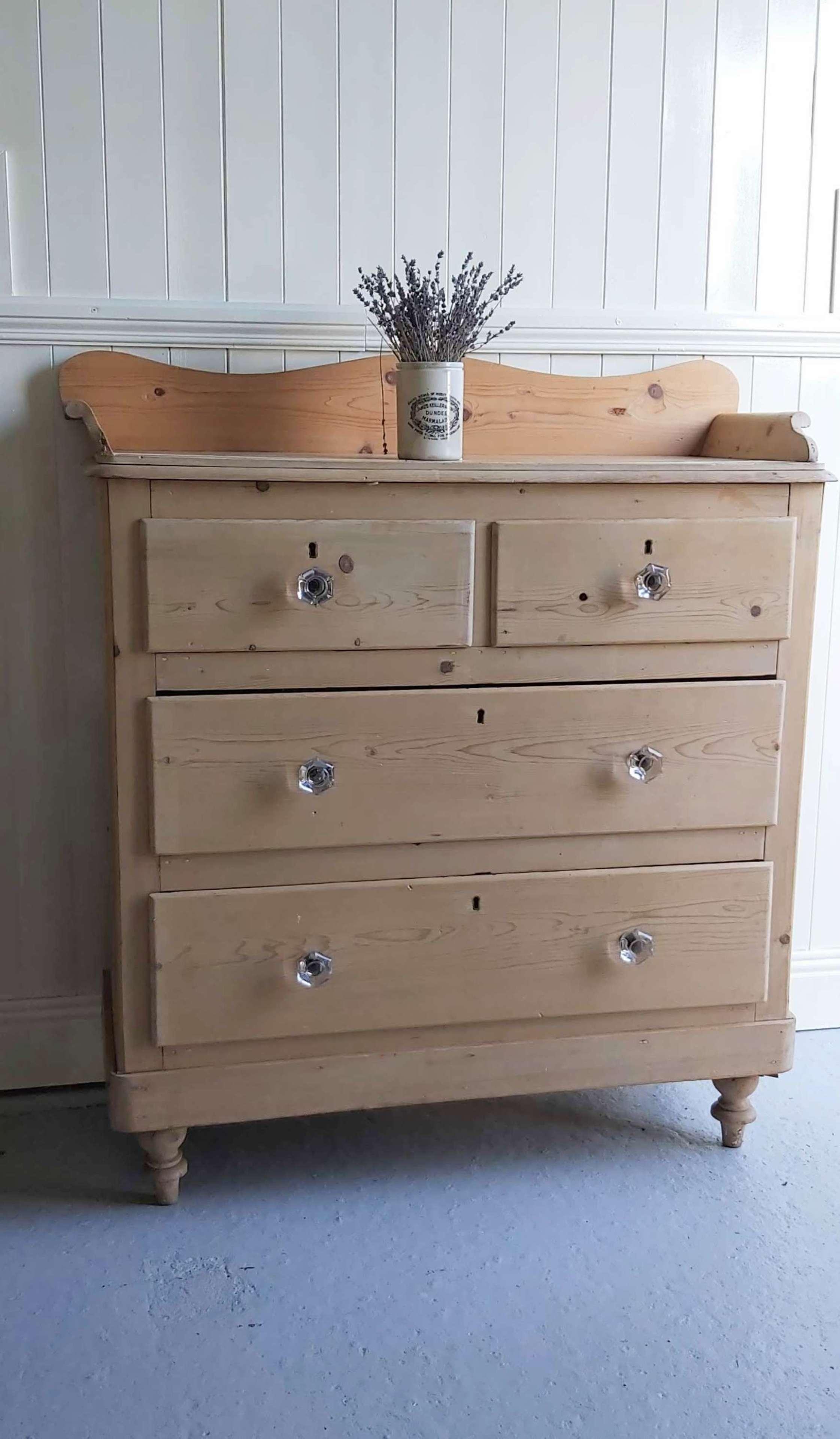 Irish 19th century pine chest