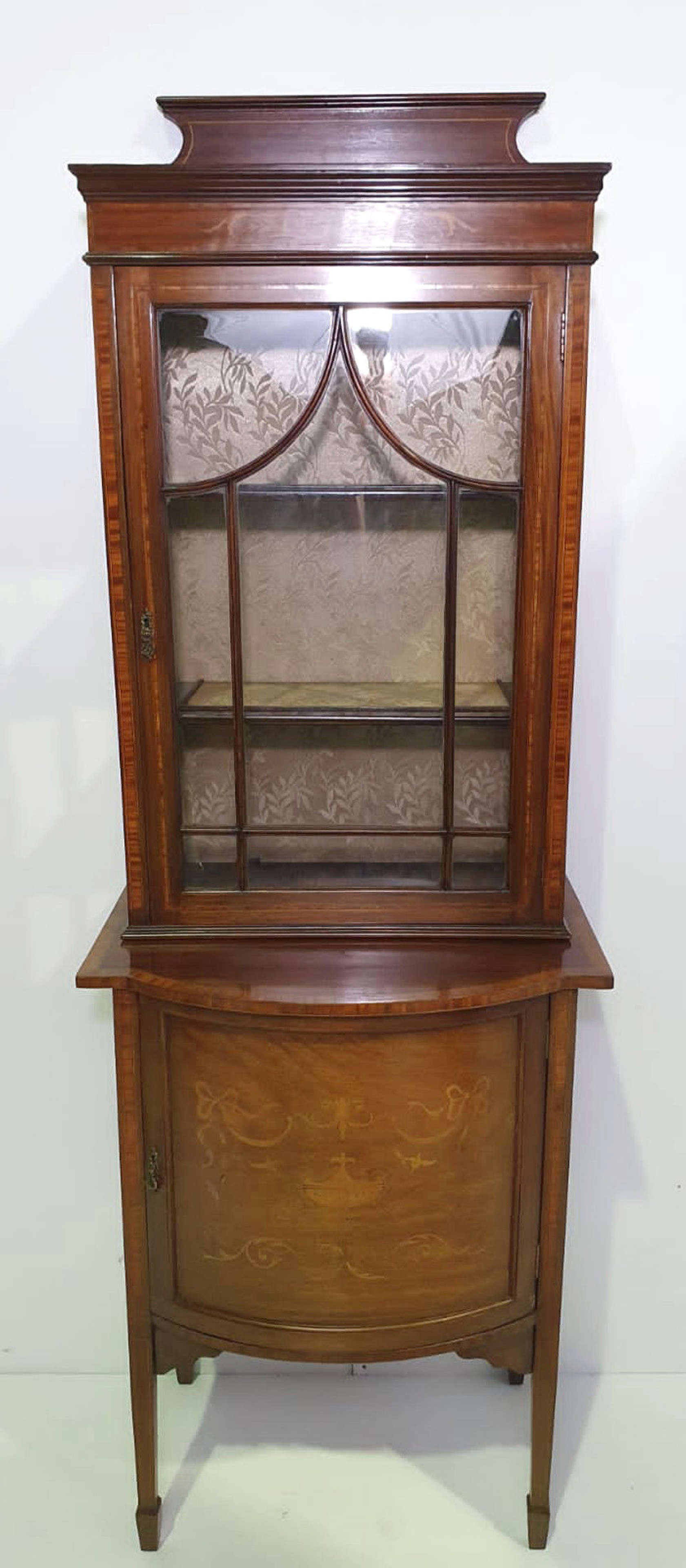 Edwardian Inlaid Mahogany Single Door Cabinet