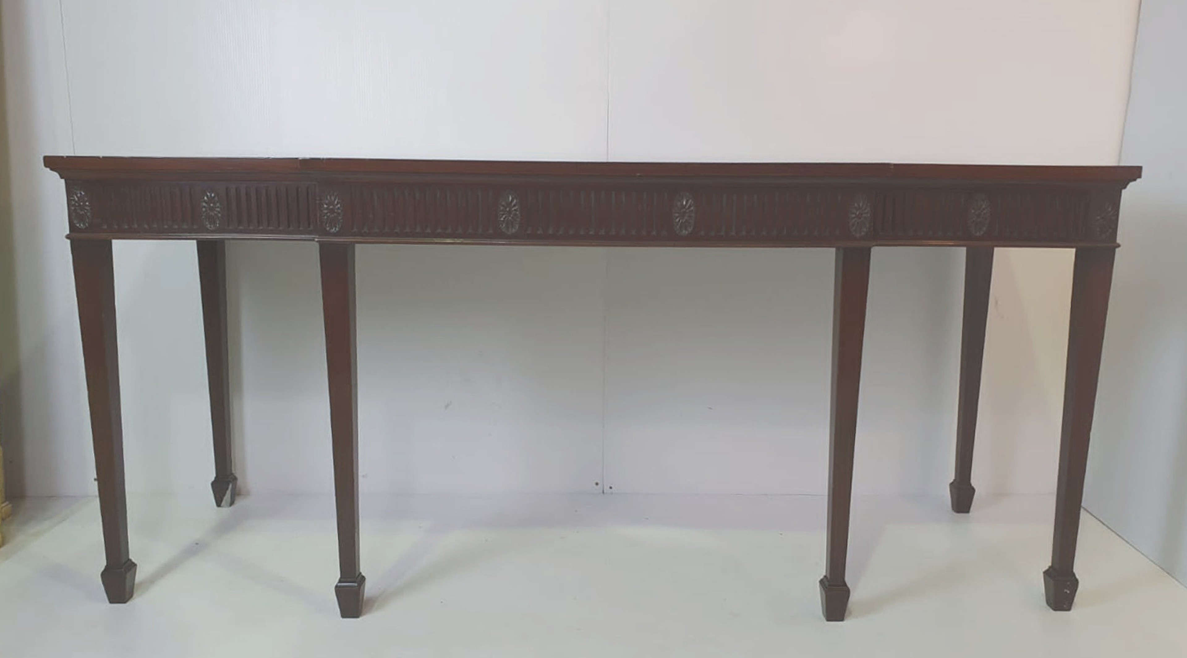 19th Century Mahogany Hepplewhite Style Hall, Console or Serving Table
