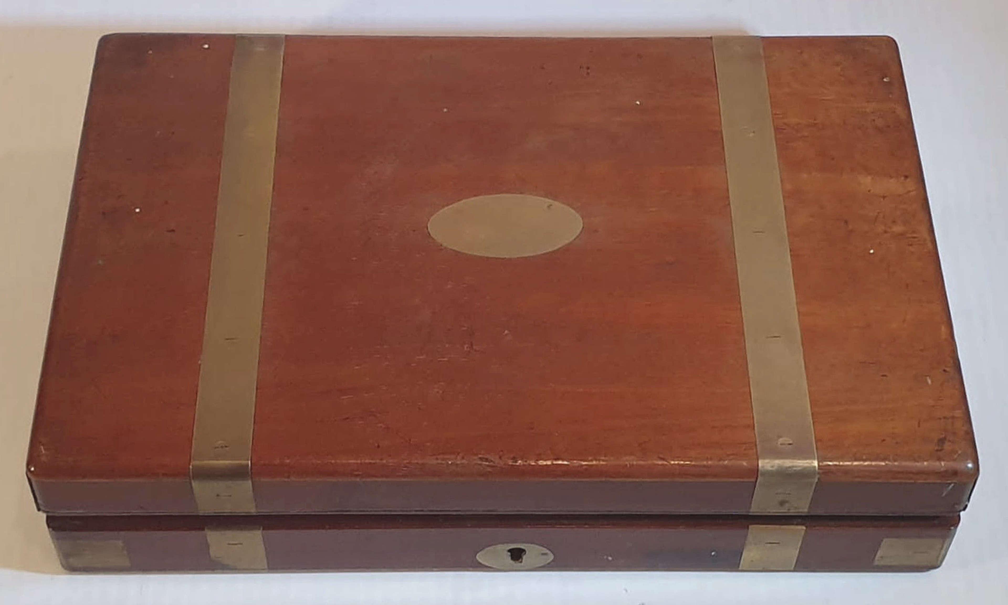 Rare 19th Century Mahogany Brass Bound Surgeons Box