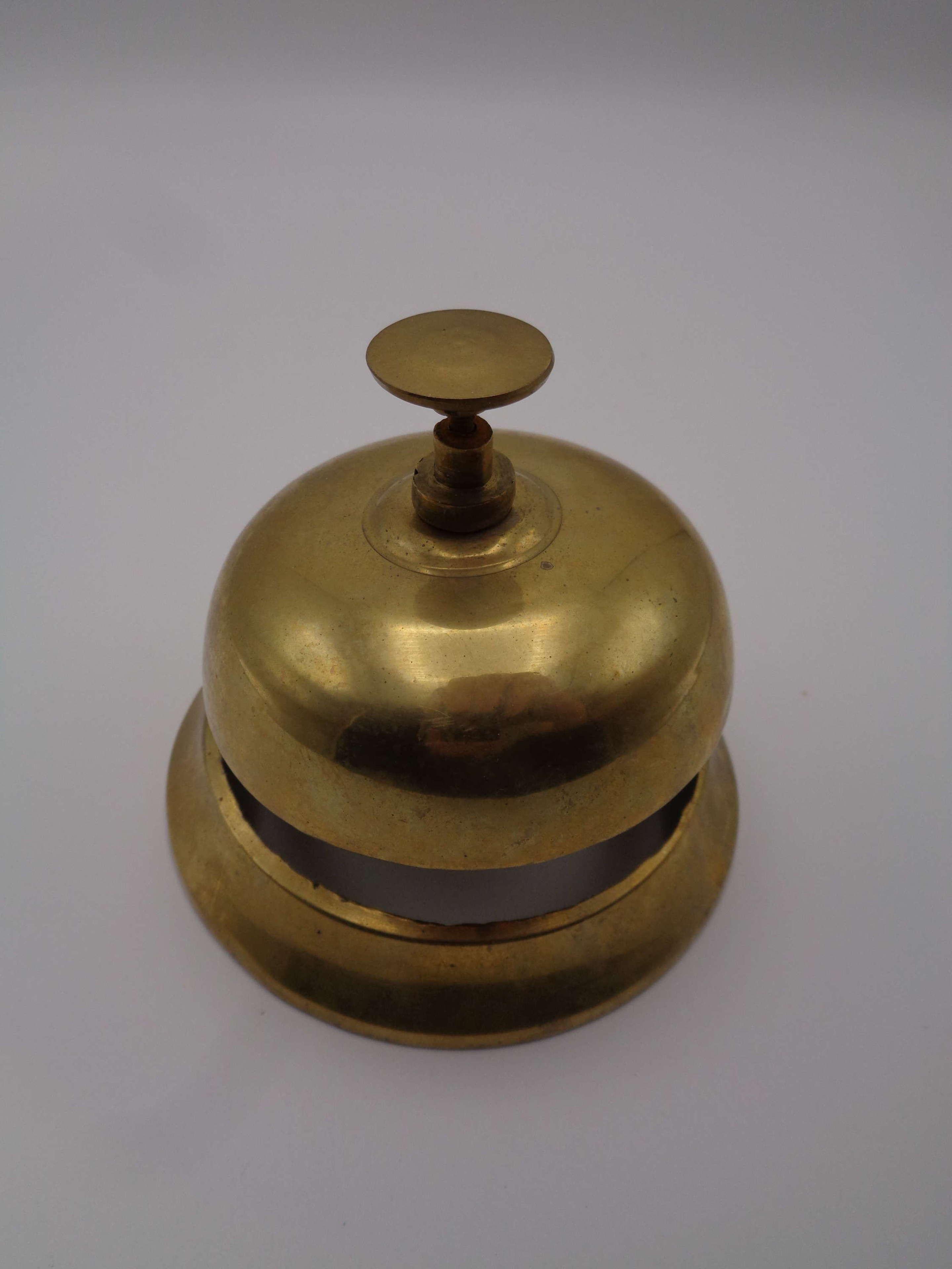 Vintage Brass Shop Counter Bell