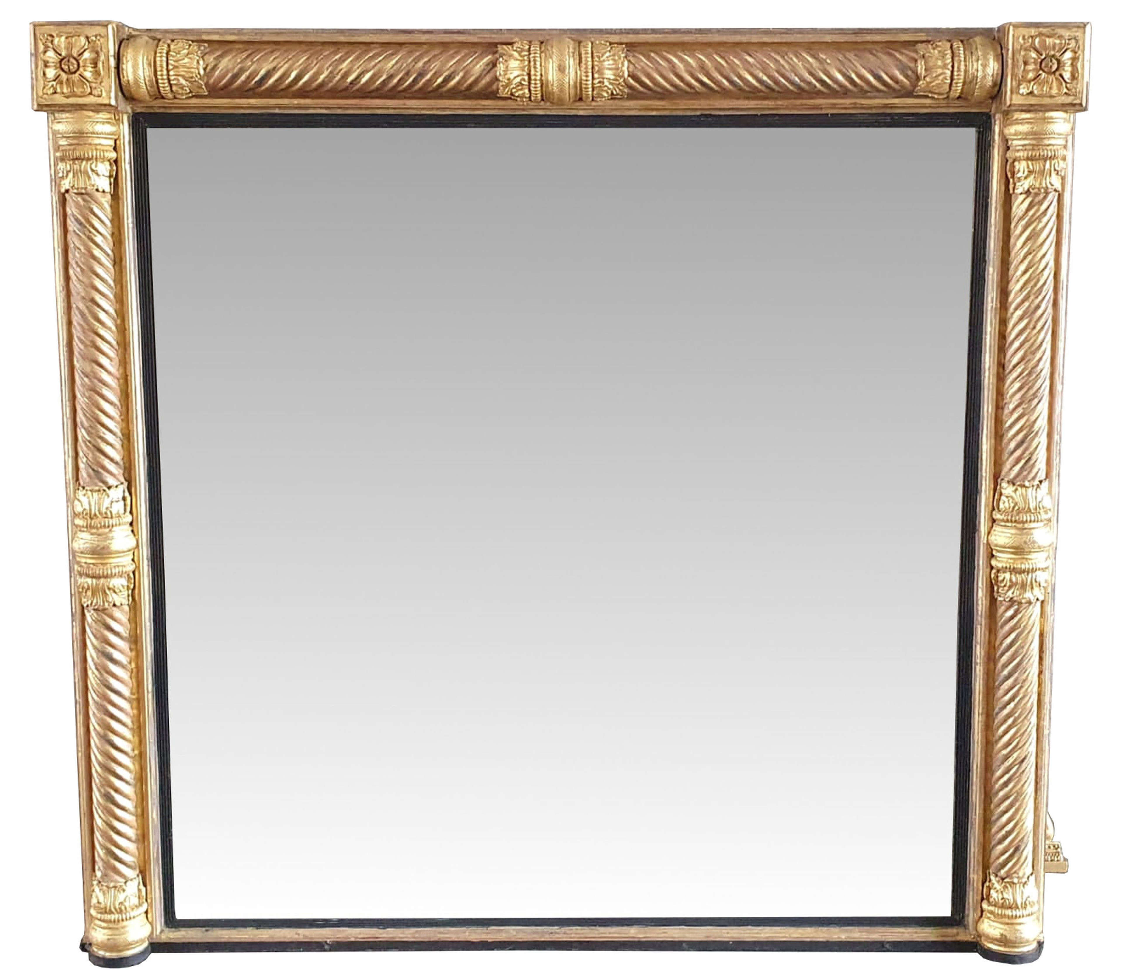 Early 19th Century Near Square Overmantle Mirror