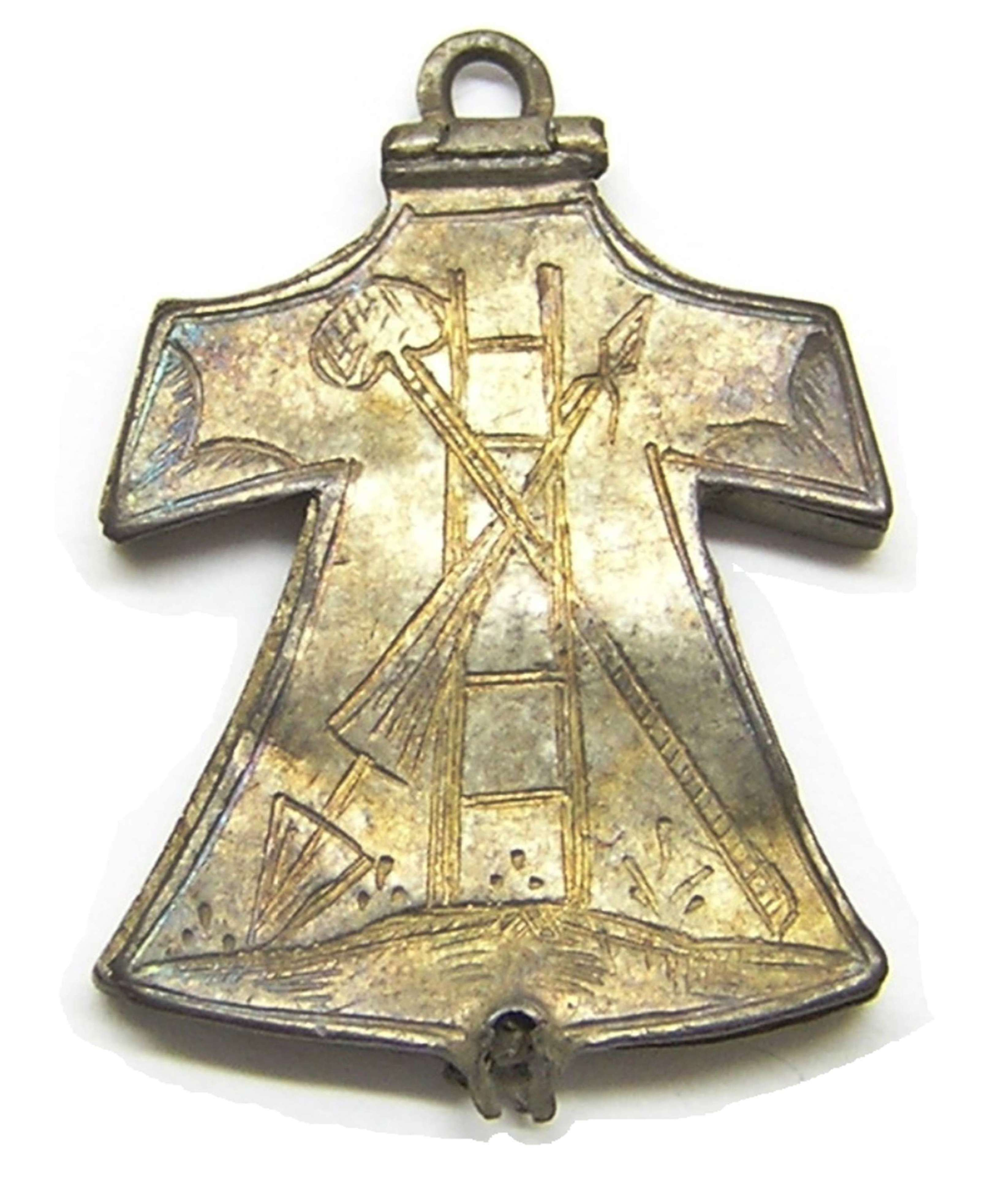 Medieval Silver Reliquary Pendant