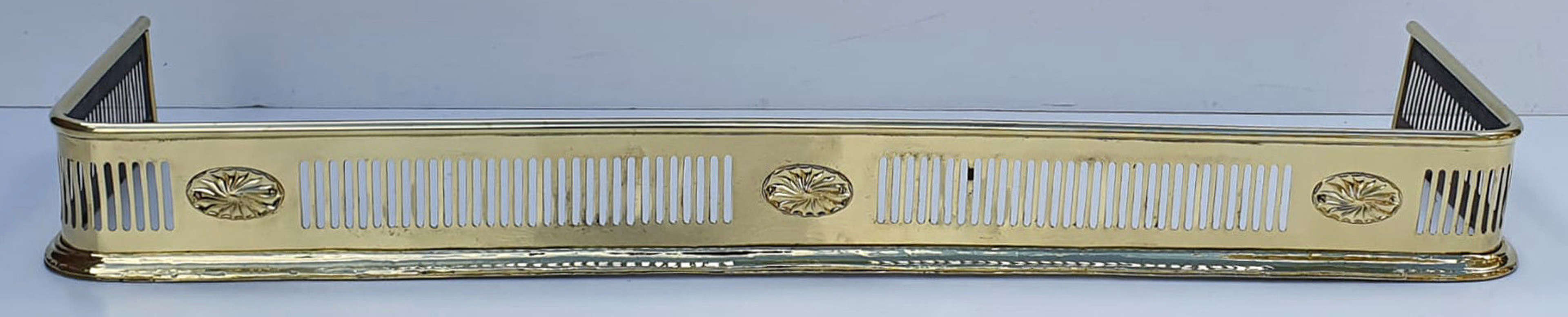 Fully Restored 19th Century Neat Size Brass Fender