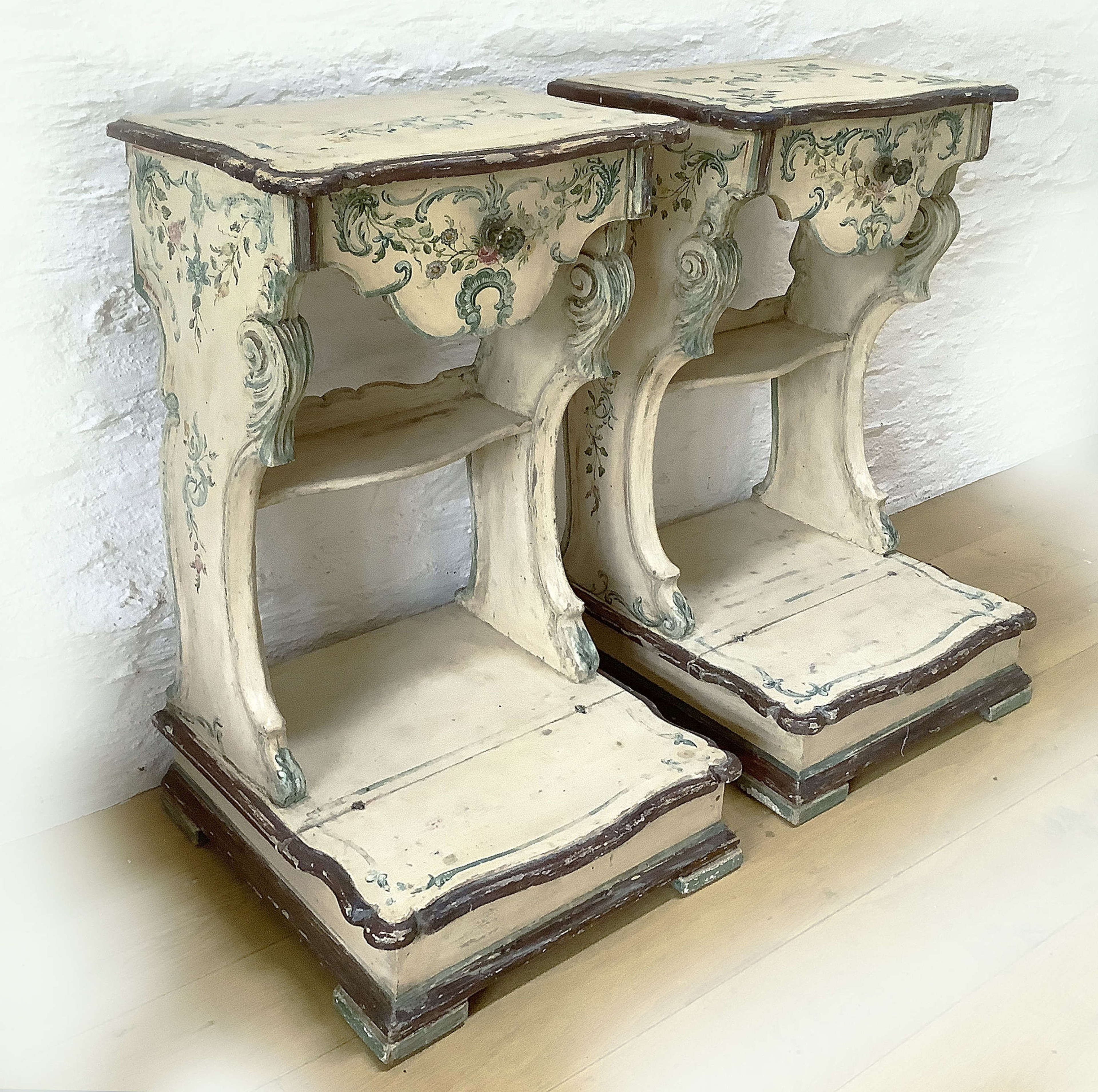 Pair of Italian 19th Century Bedside Tables