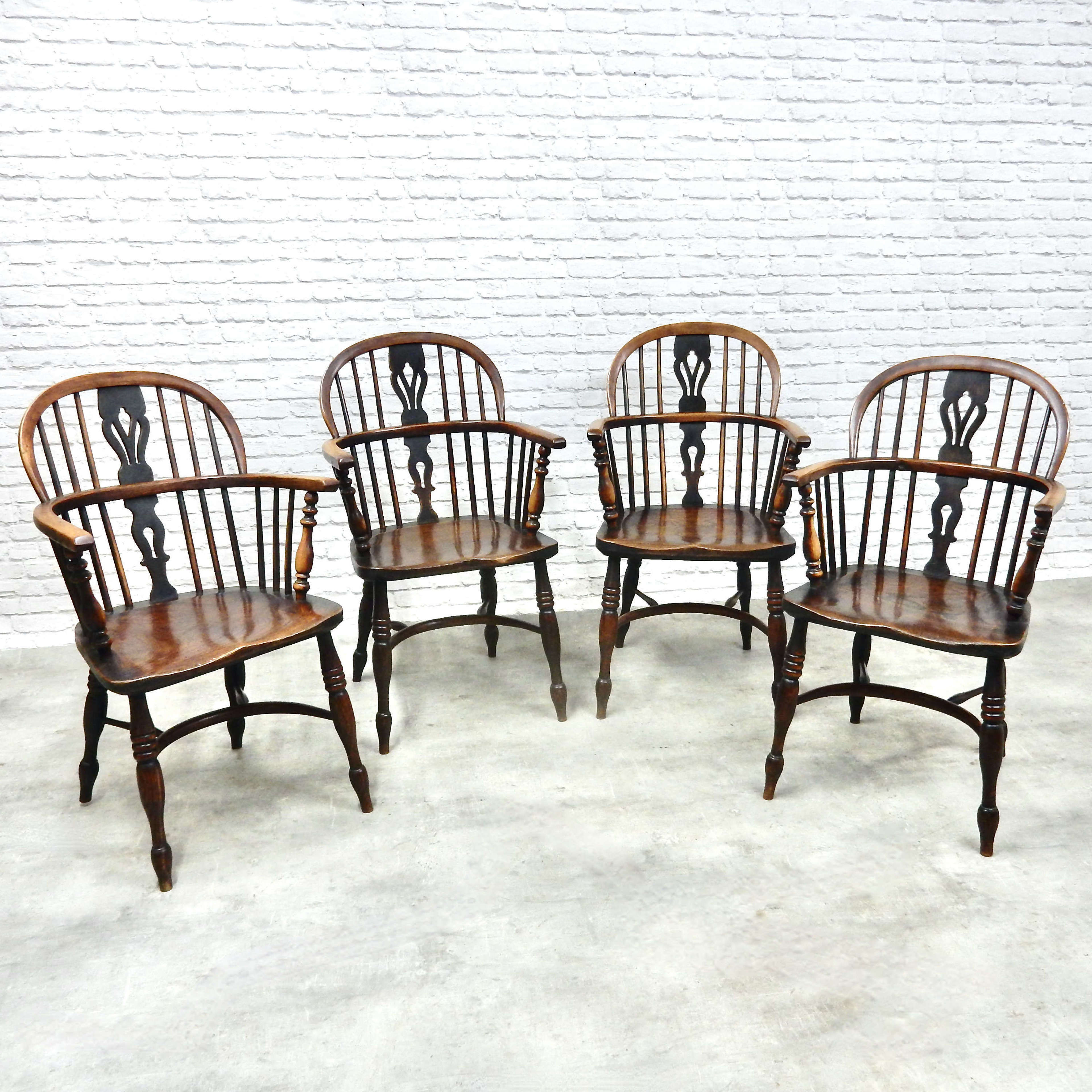 4x Windsor Lowback Armchairs