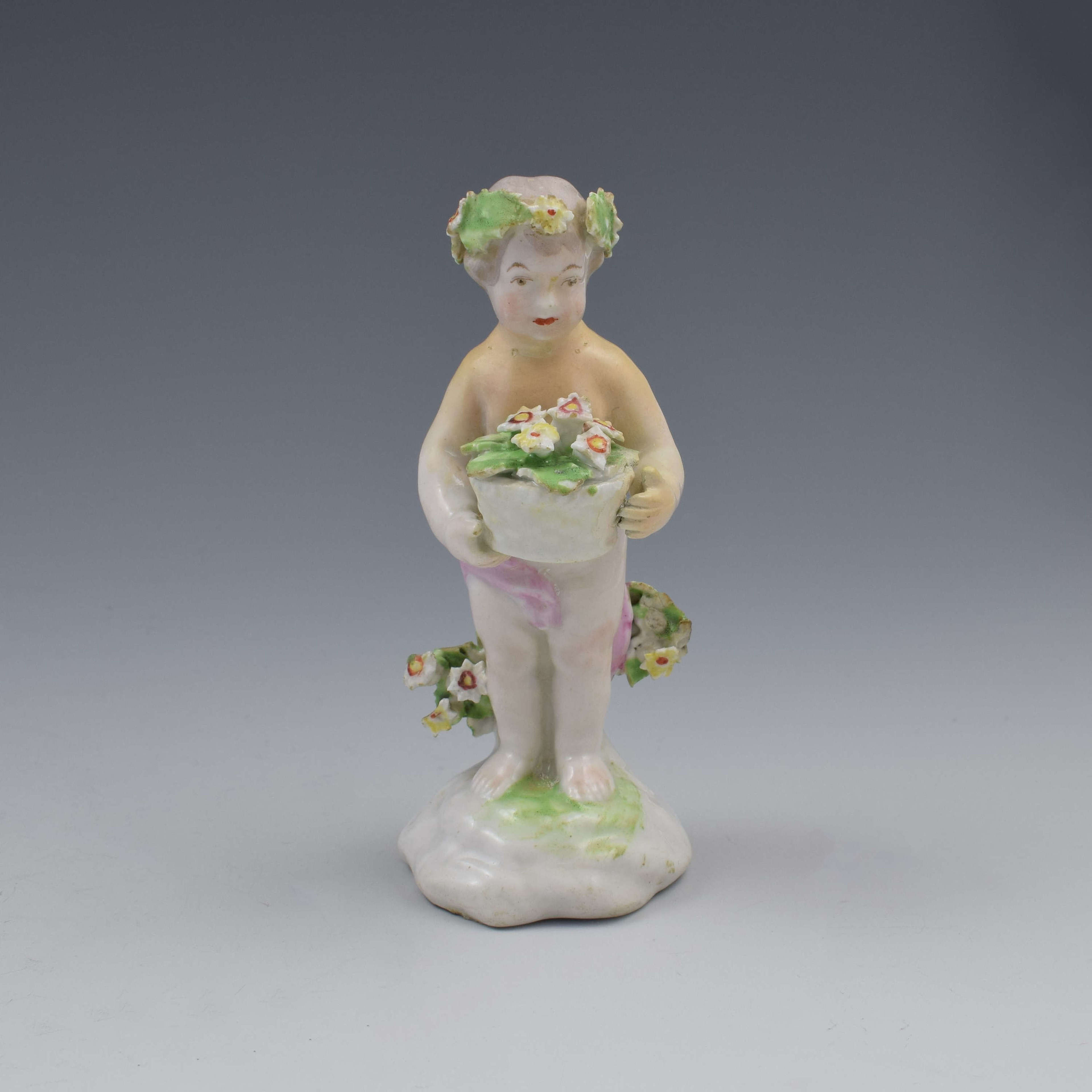 18th Century Derby Porcelain Figure Of A Small Putto c.1780