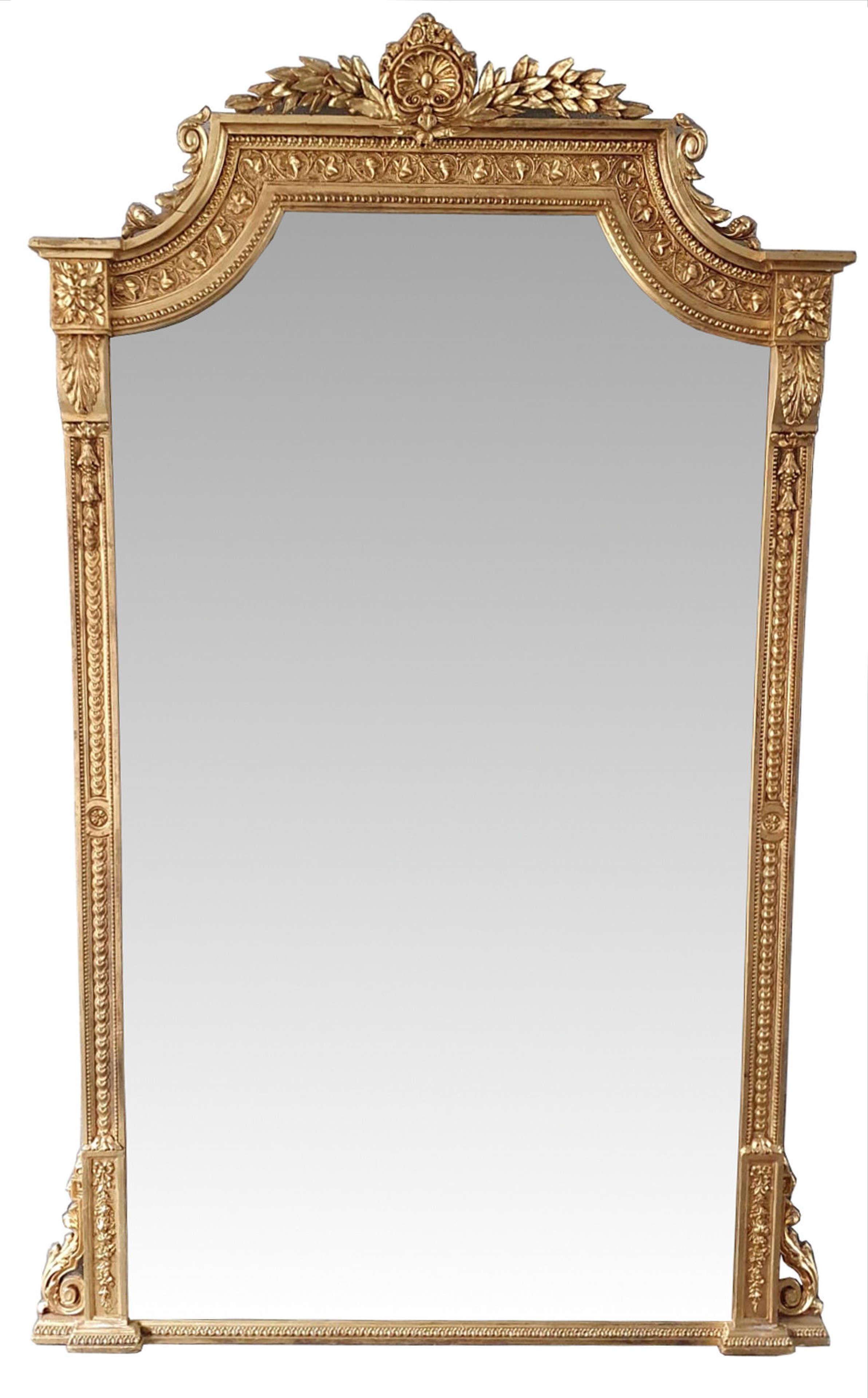 Large 19th Century Gilt Hall or Dressing Mirror