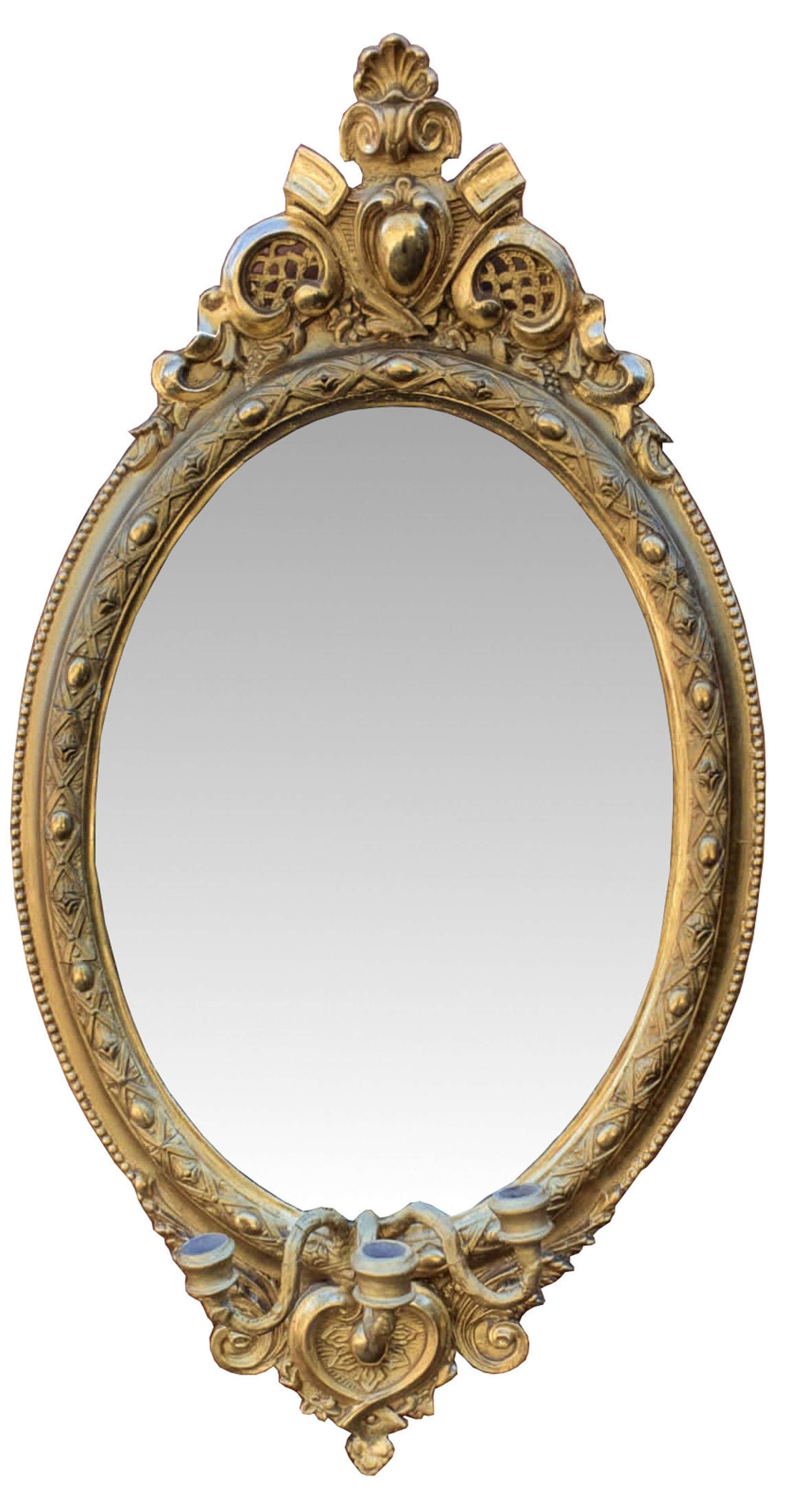 19th Century Gilt Girondole Mirror