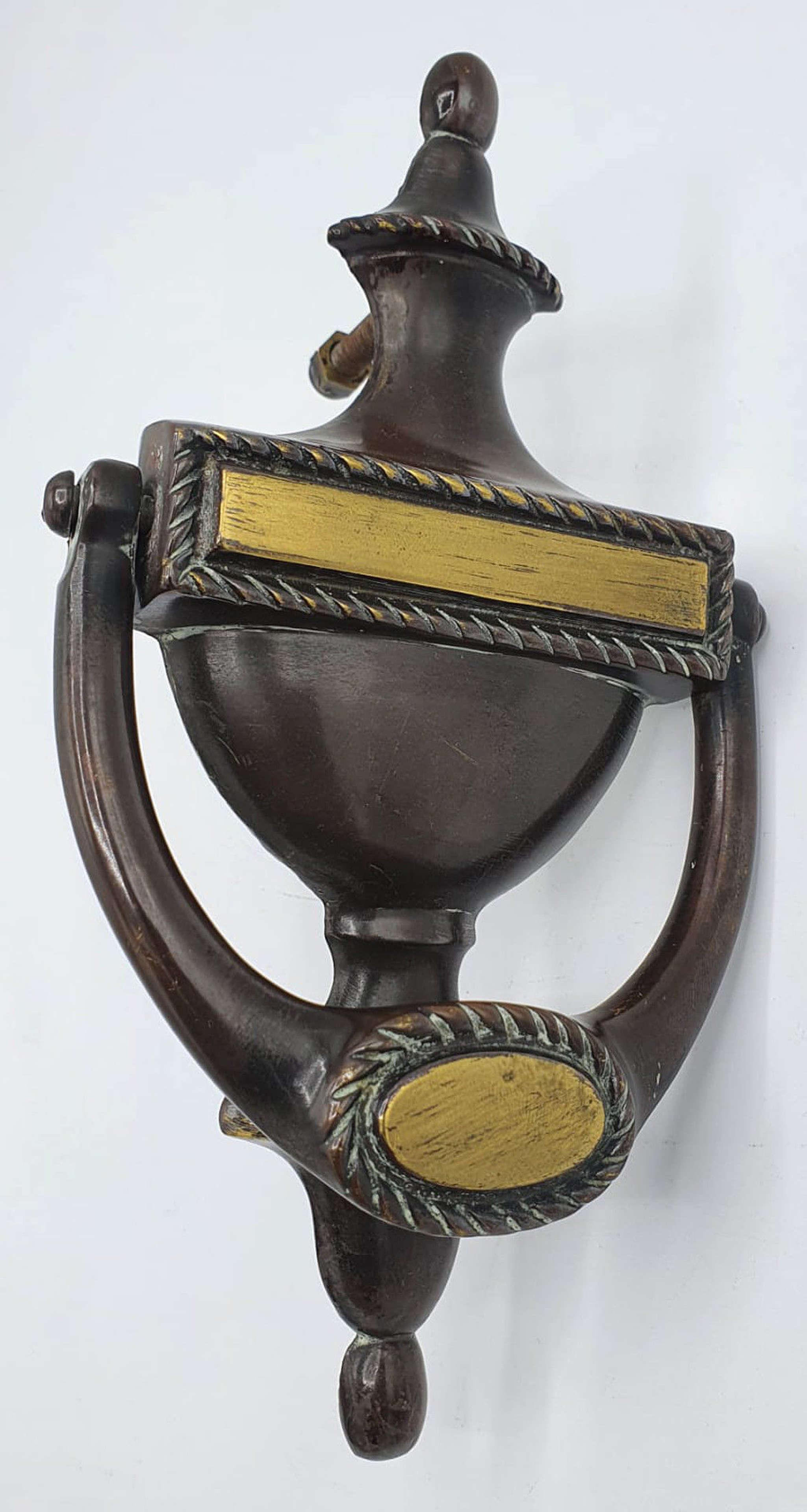 Early 20th Century Solid Brass Door Knocker