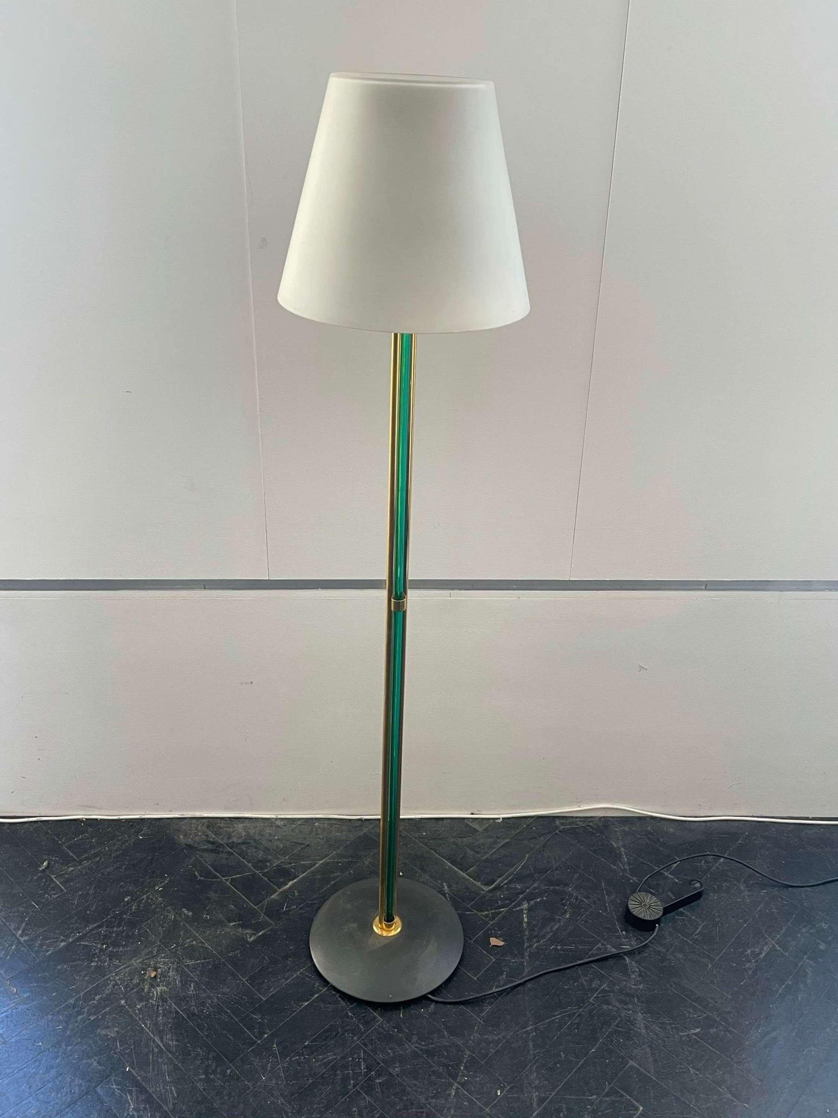 Italian 70s Venini Murano Glass Floor Lamp